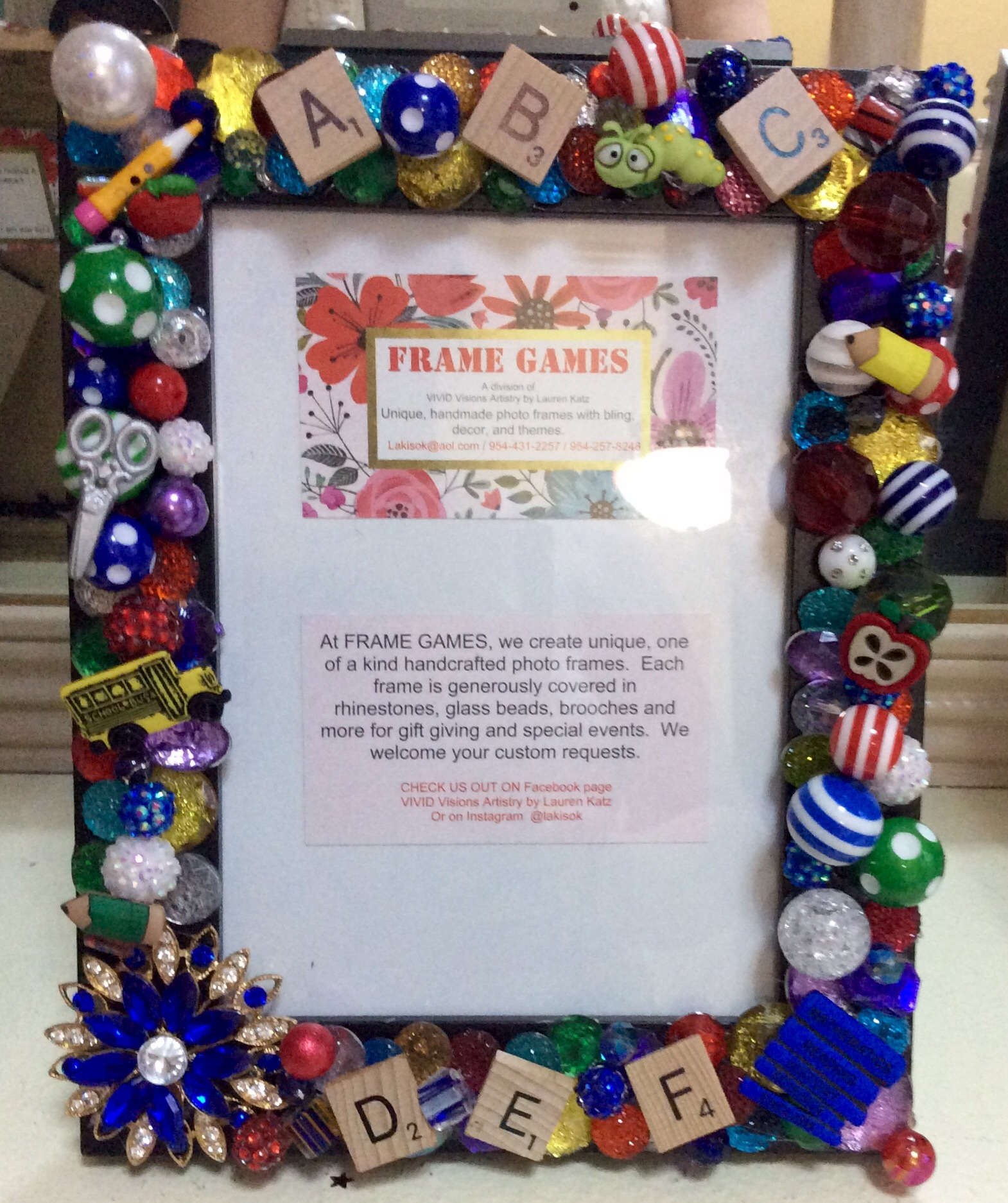 JUST FOR TEACHER 5x7 picture frame FOR SALE: $39.00 plus flat rate shipping and tax  by lakisok