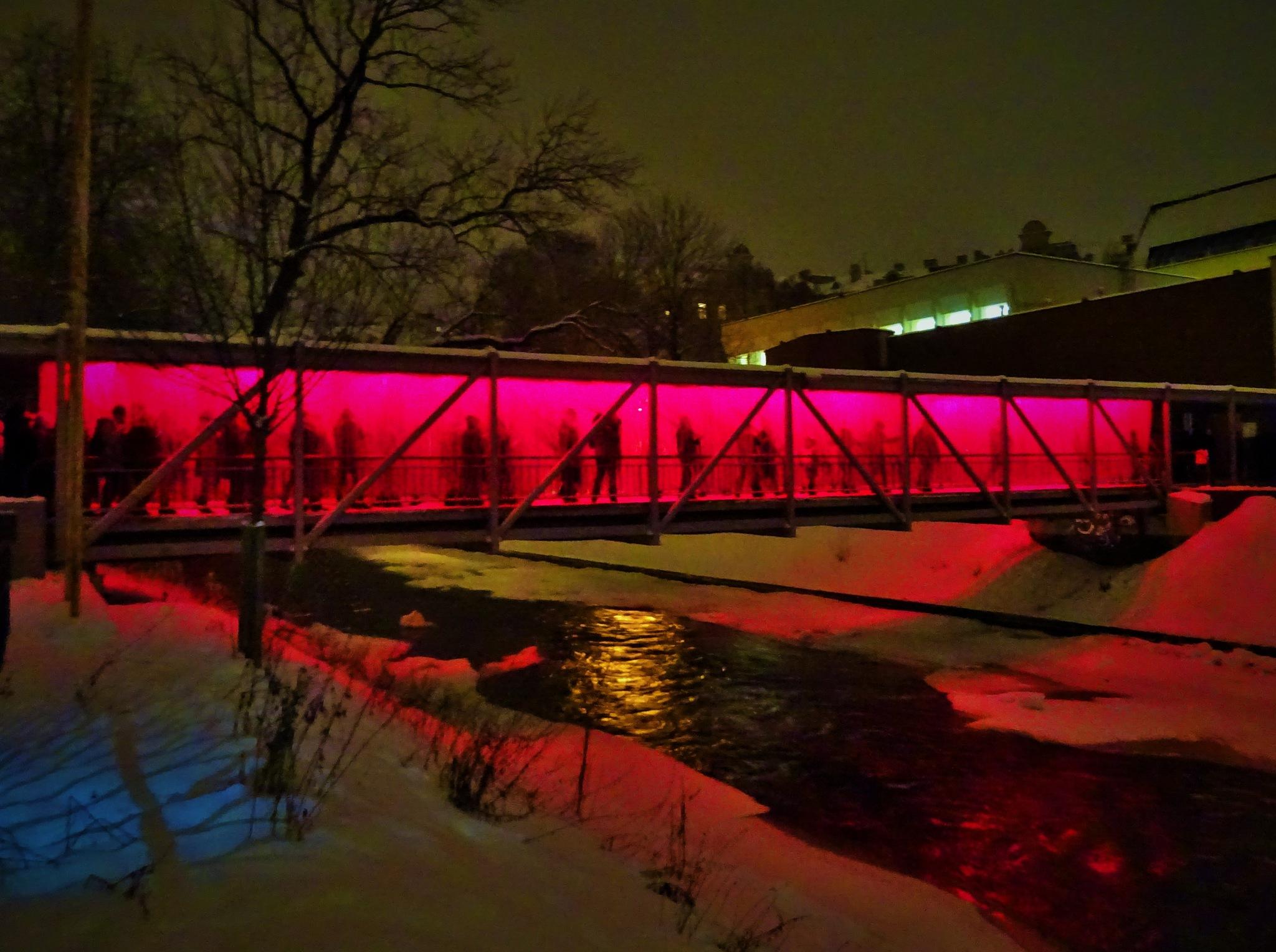 A red bridge. by vita.tucaite