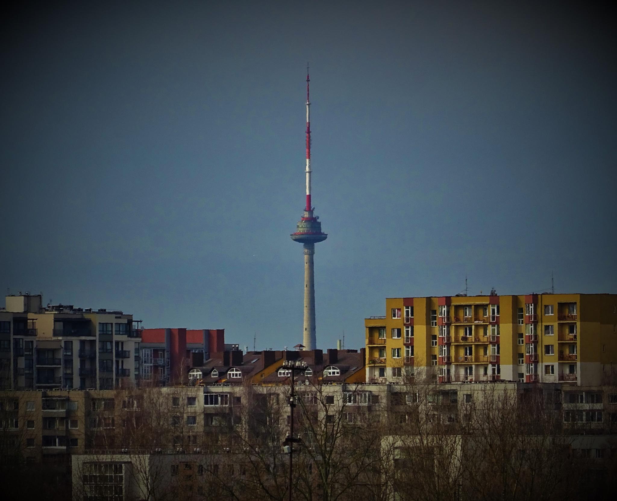 A TV tower in Vilnius. by vita.tucaite