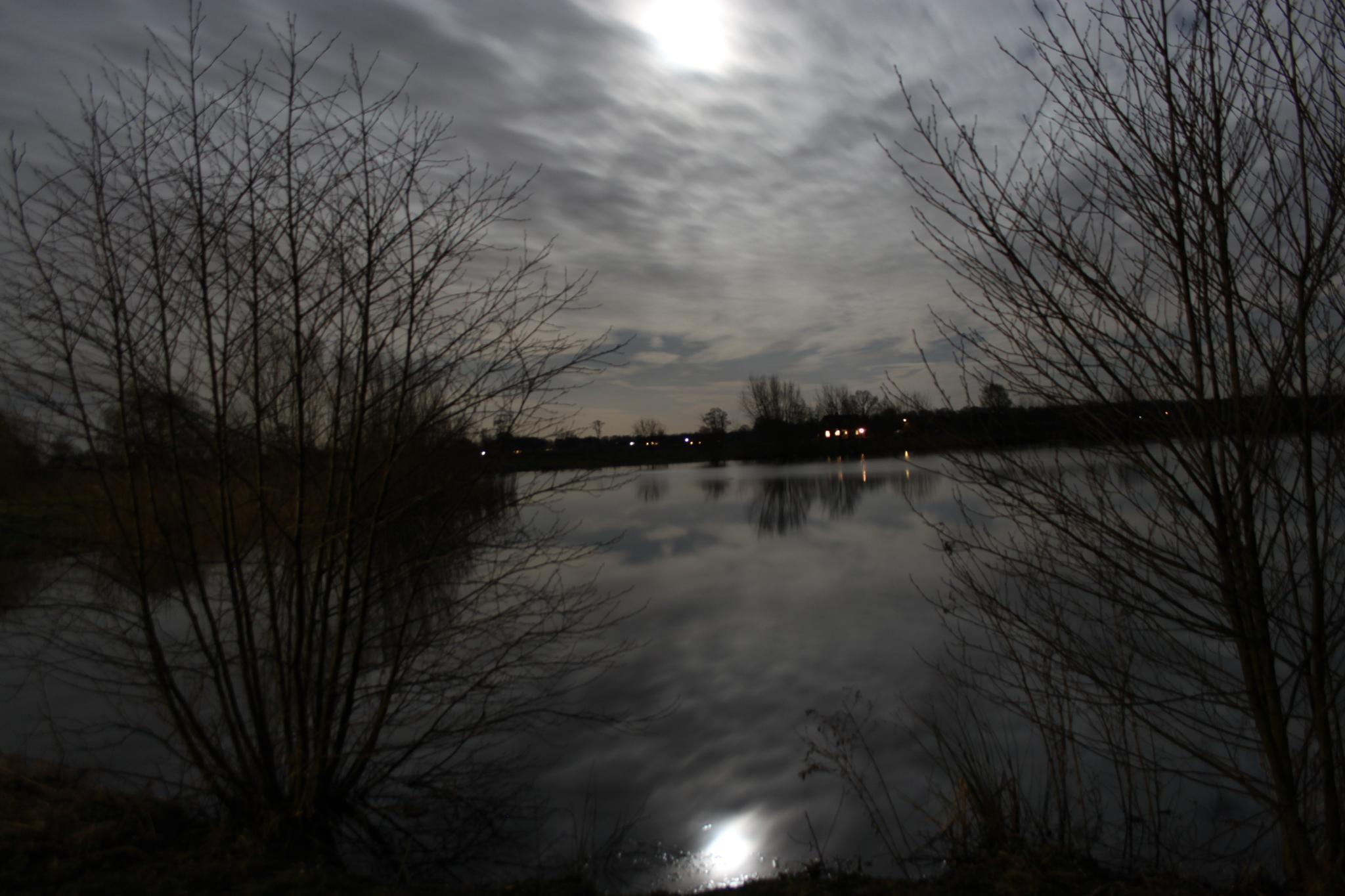 Moonlight at Raalte by Sijb Huijser