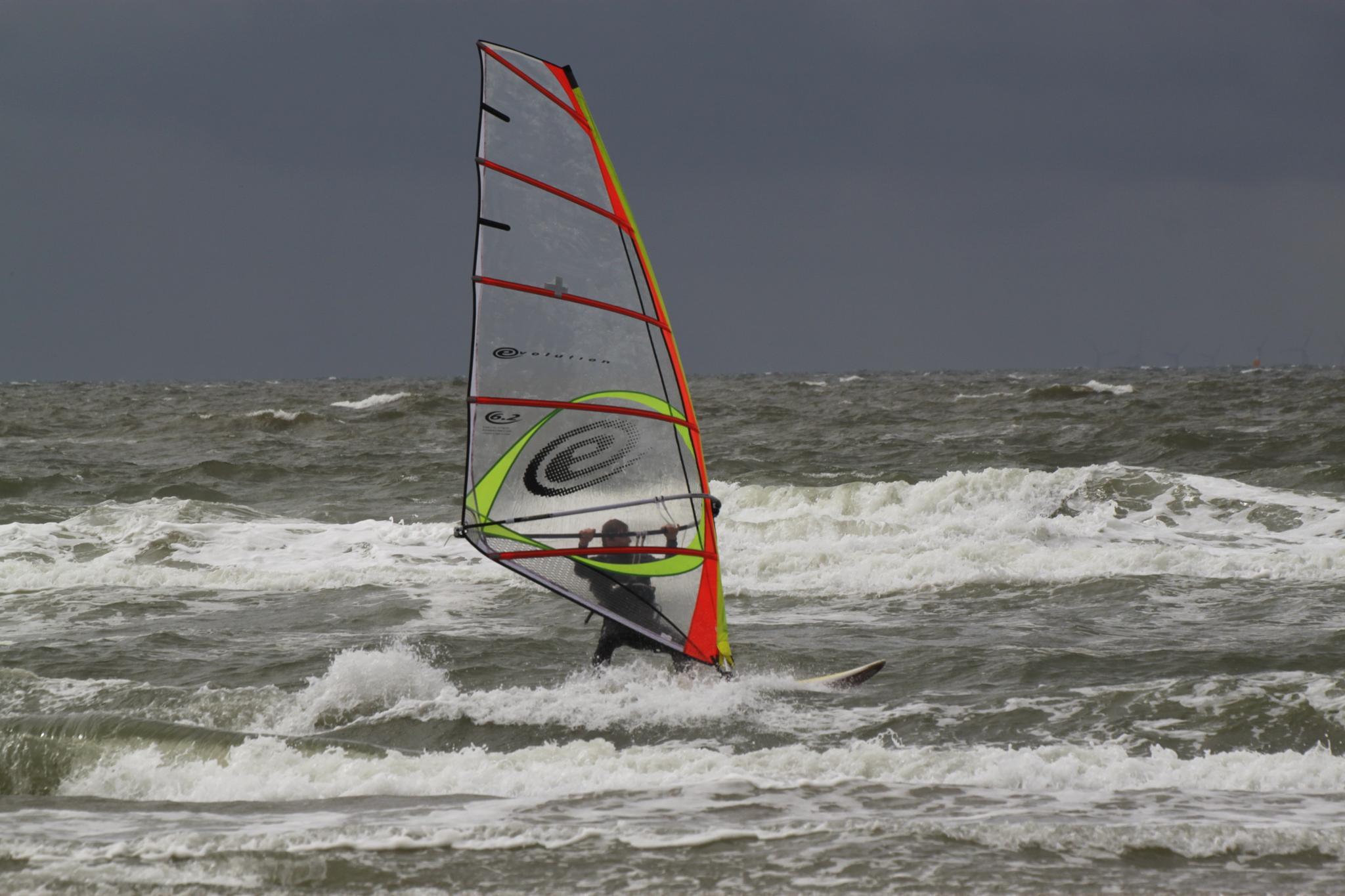 Surfing in the North Sea near Wijk aan Zee by Sijb Huijser