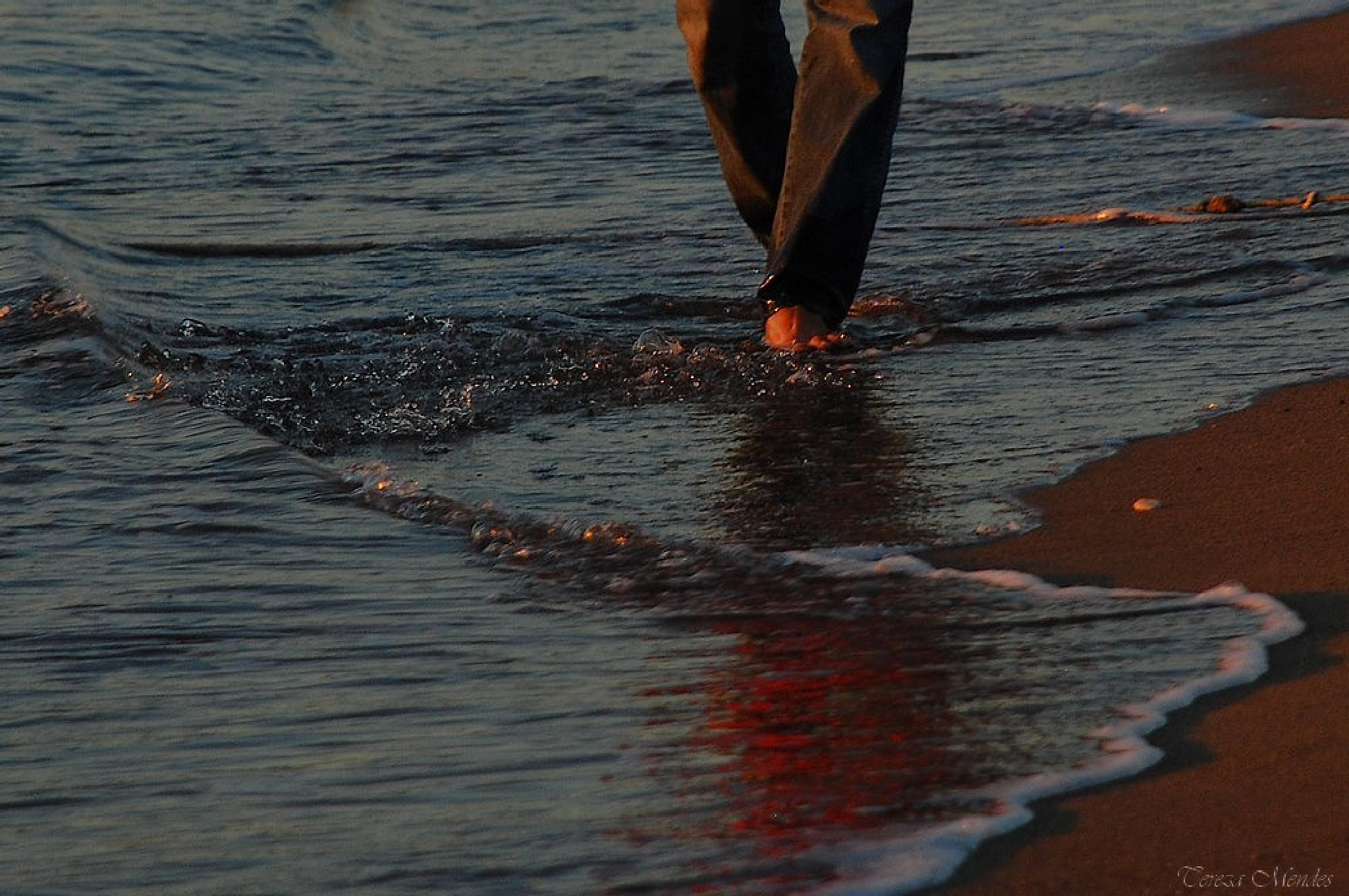 Walking on the beach by tereza.tn.uca