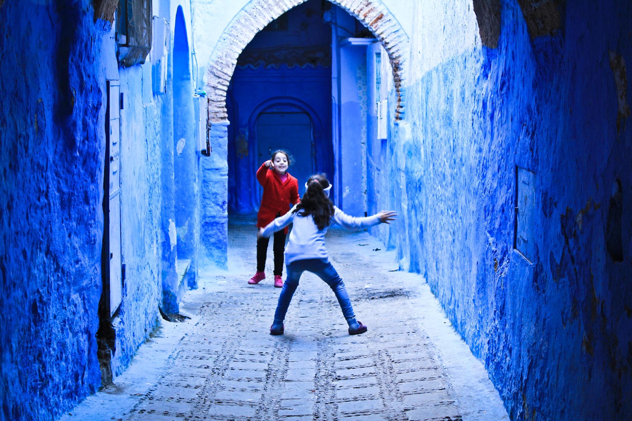 Blue Childhood by Nader Boulaich Segma