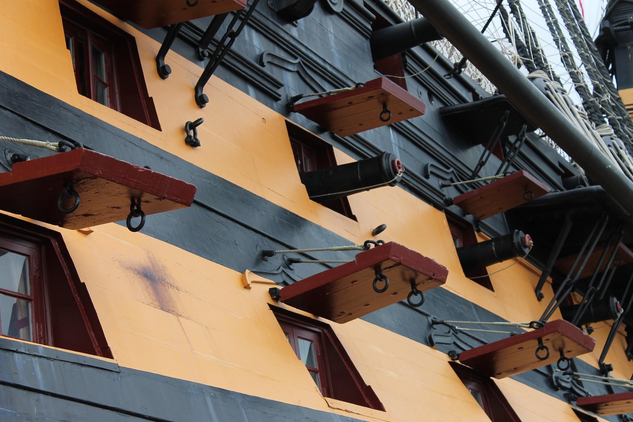 HMS Victory gunports by Tony Bent