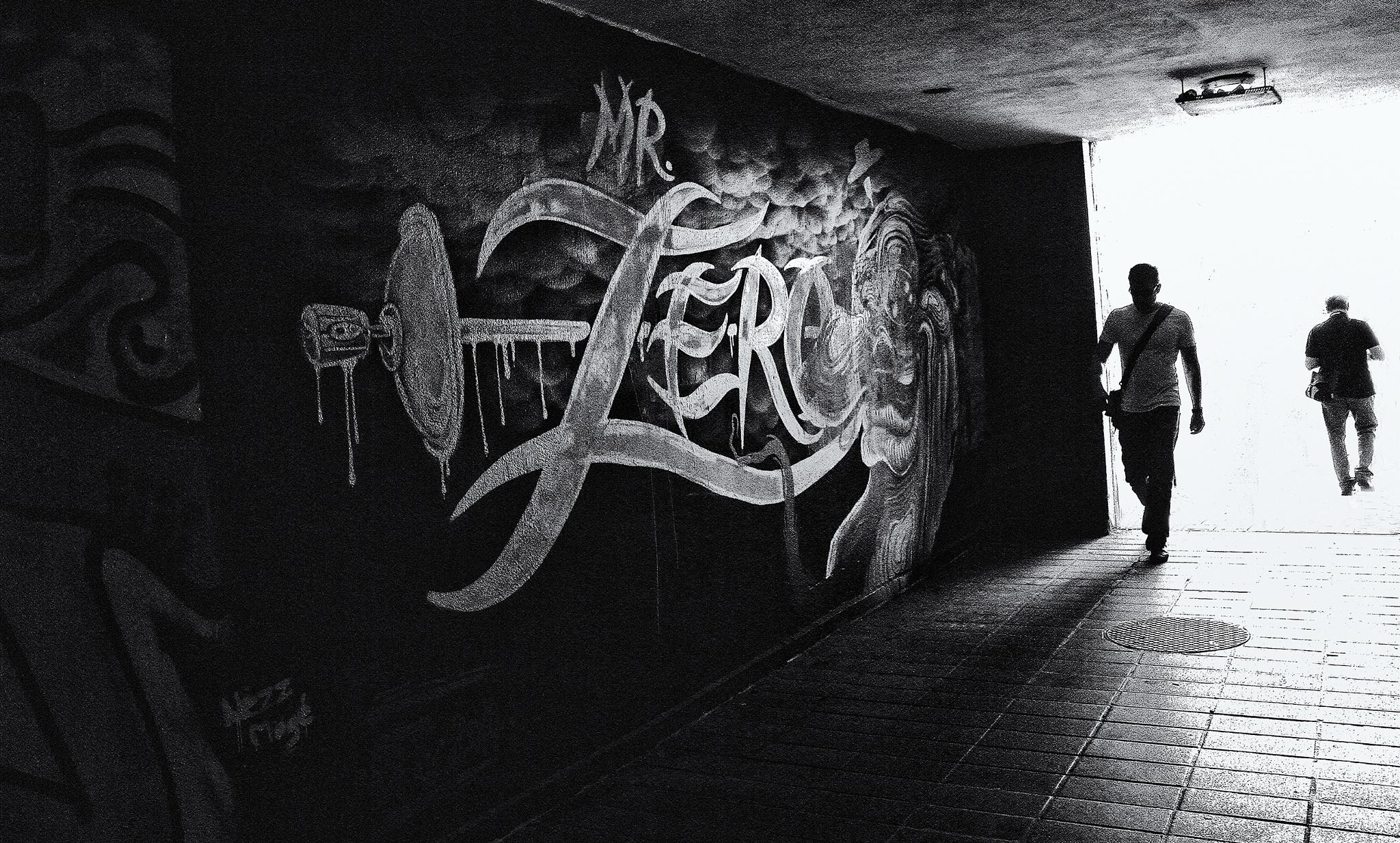 Graffiti az aluljáróban by katikiralyne