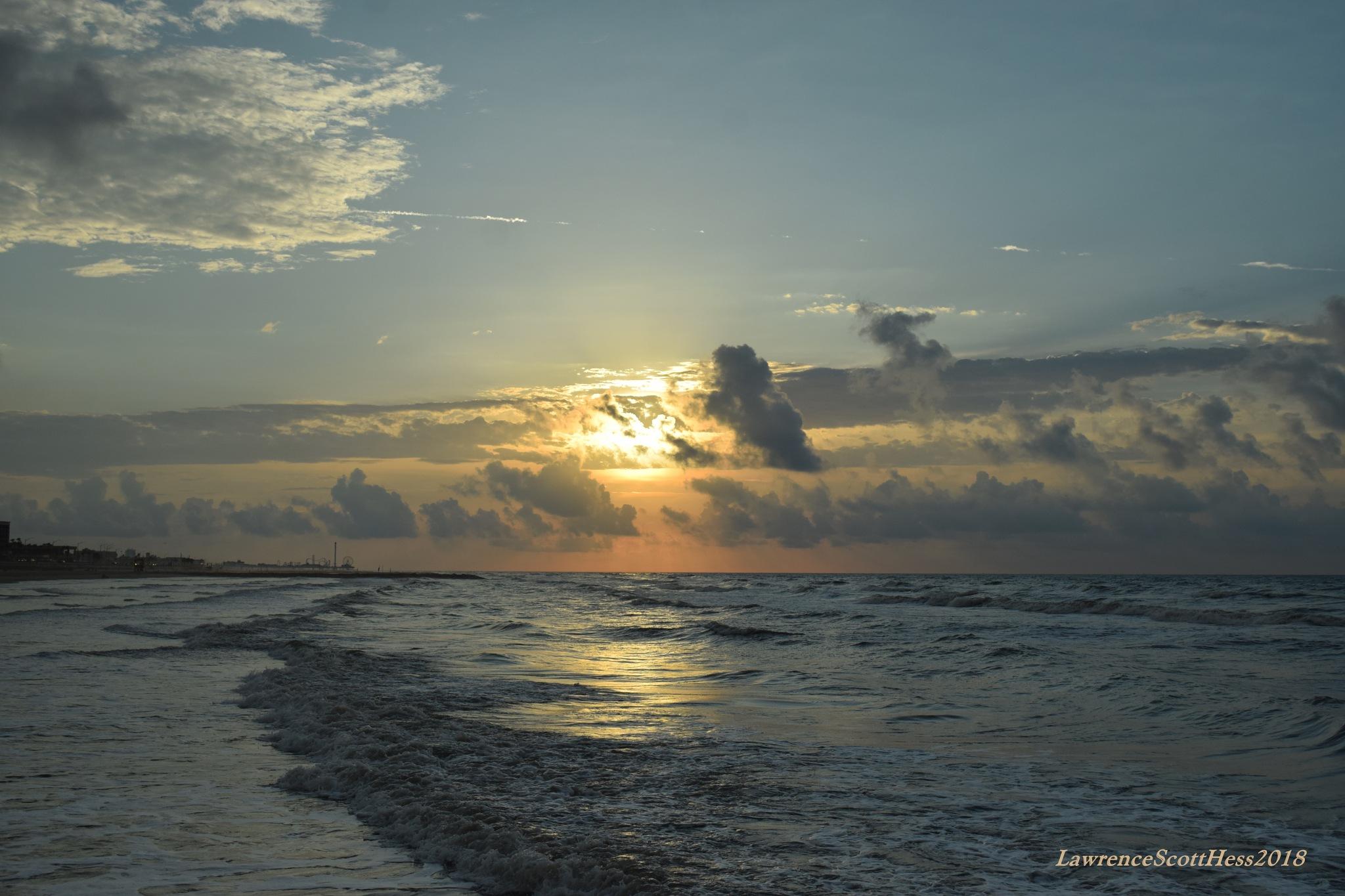 Galveston 233~Gulfcoast Ocean Sunrise by Lawrence Scott Hess