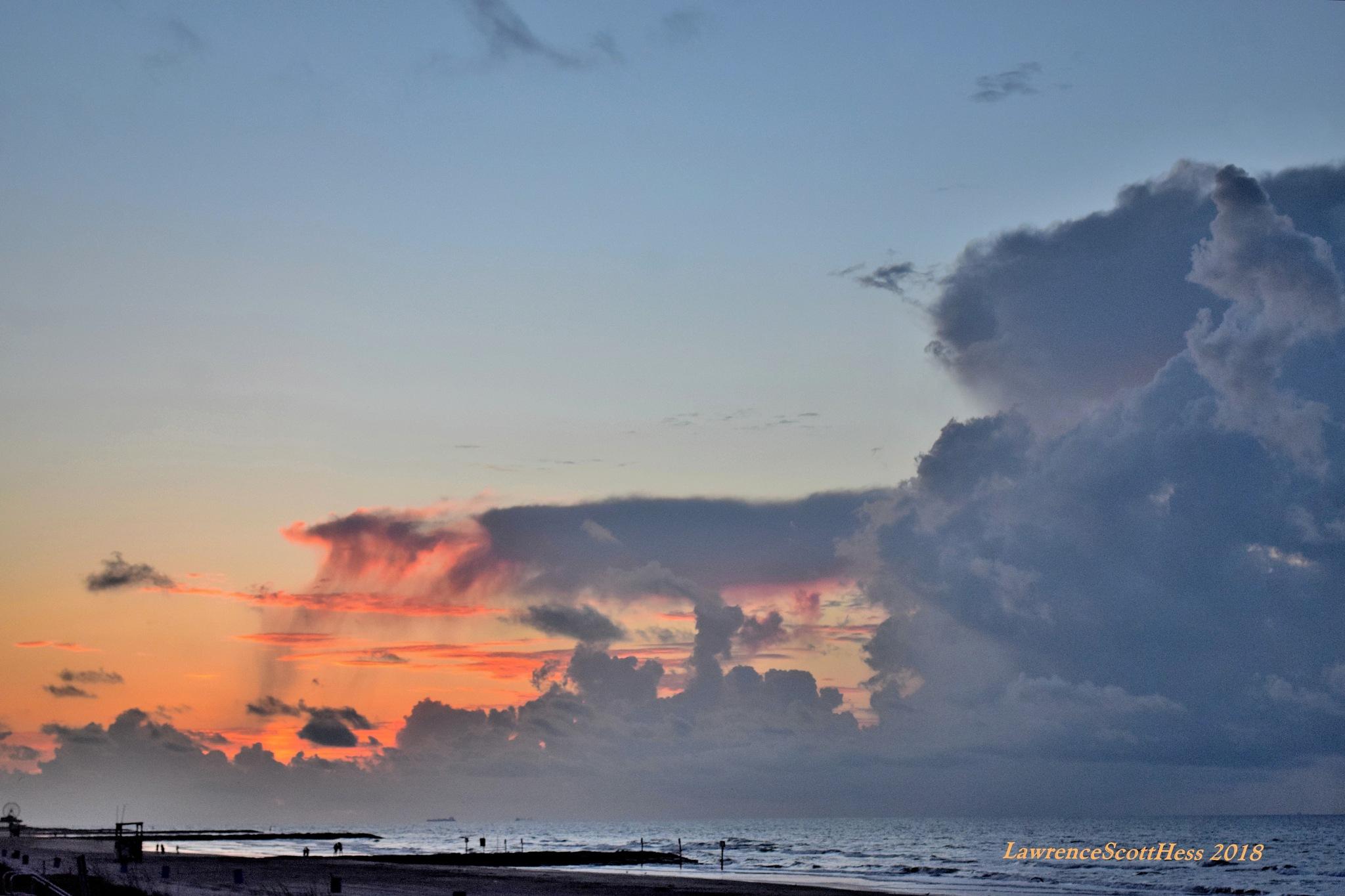 Galveston 664~Sunrise Clouds by Lawrence Scott Hess