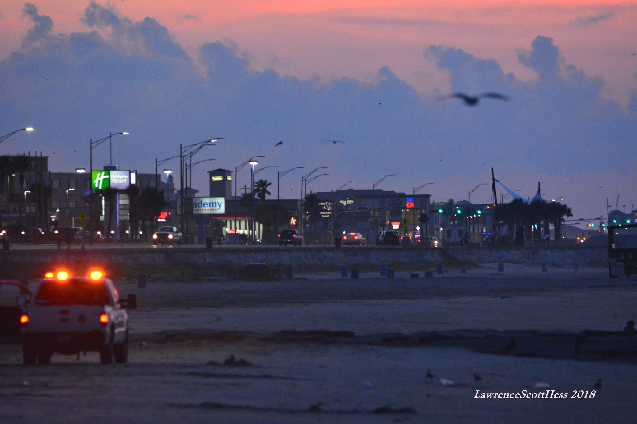 Galveston 422~Seawall Blvd  by Lawrence Scott Hess