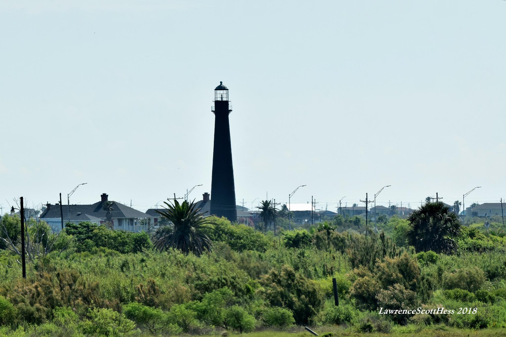 Galveston 540~The Bolivar Lighthouse by Lawrence Scott Hess