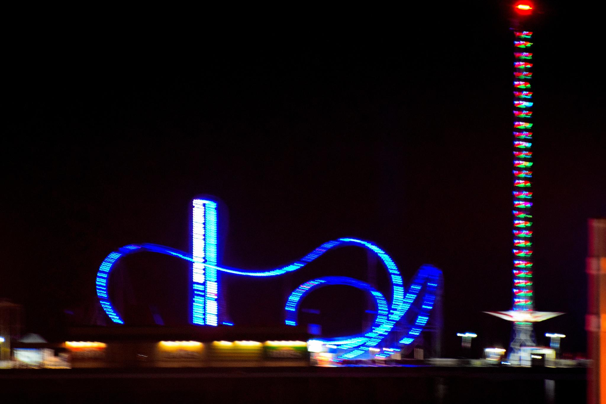 Galveston Nights 22~Blurs by Lawrence Scott Hess