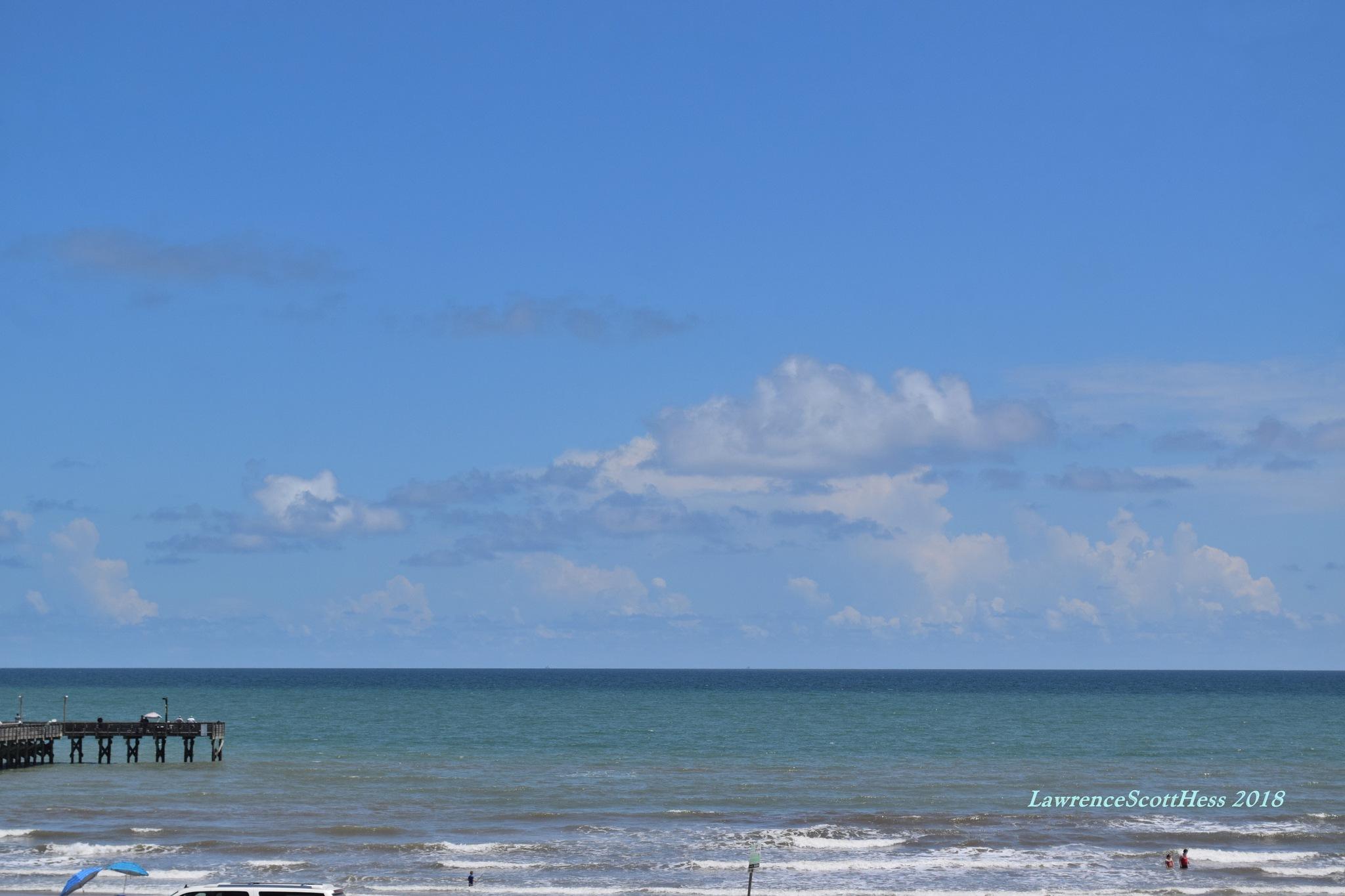Galveston 657~The Ocean by Lawrence Scott Hess
