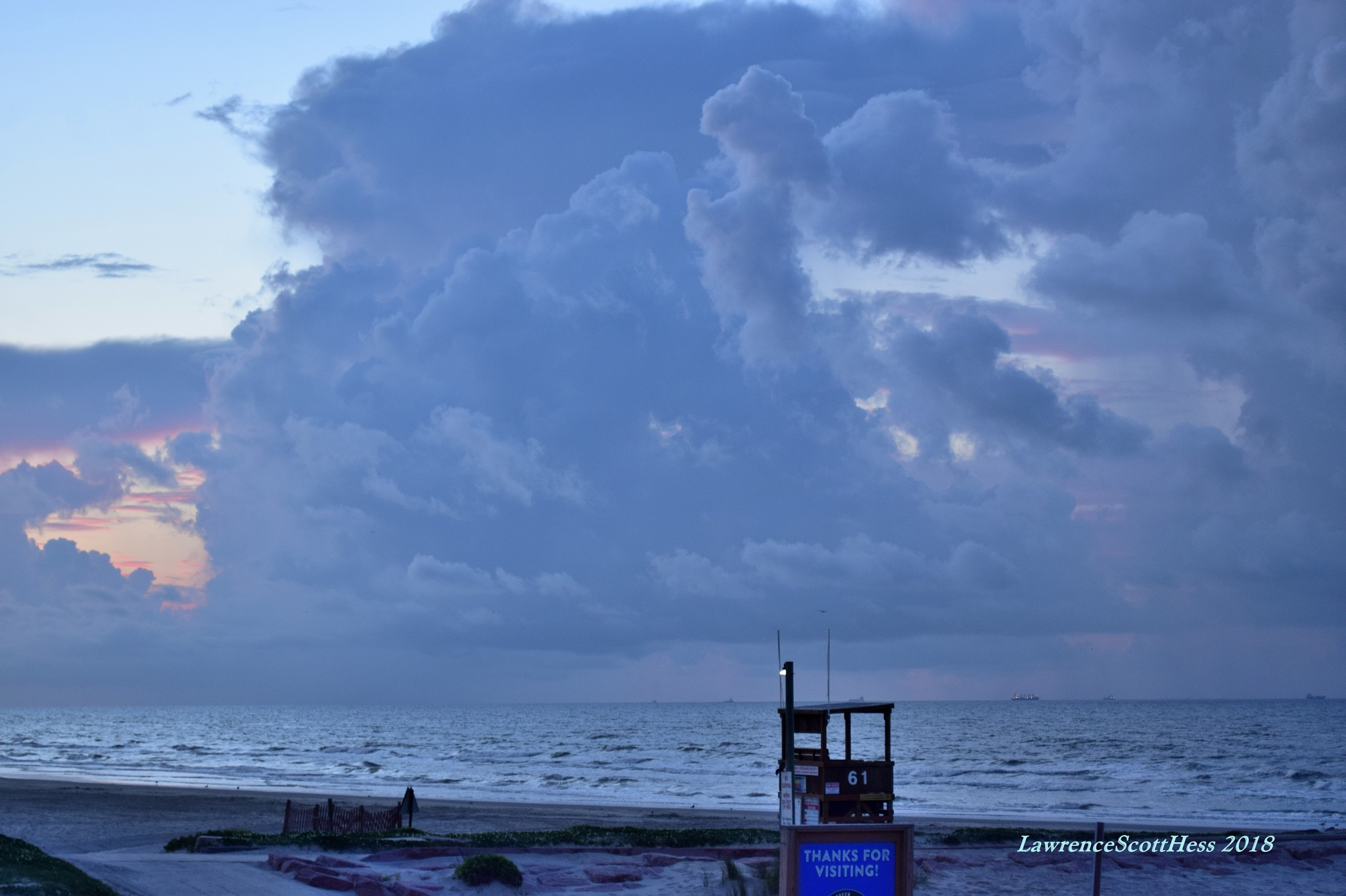 Galveston 662~The Ocean Clouds by Lawrence Scott Hess