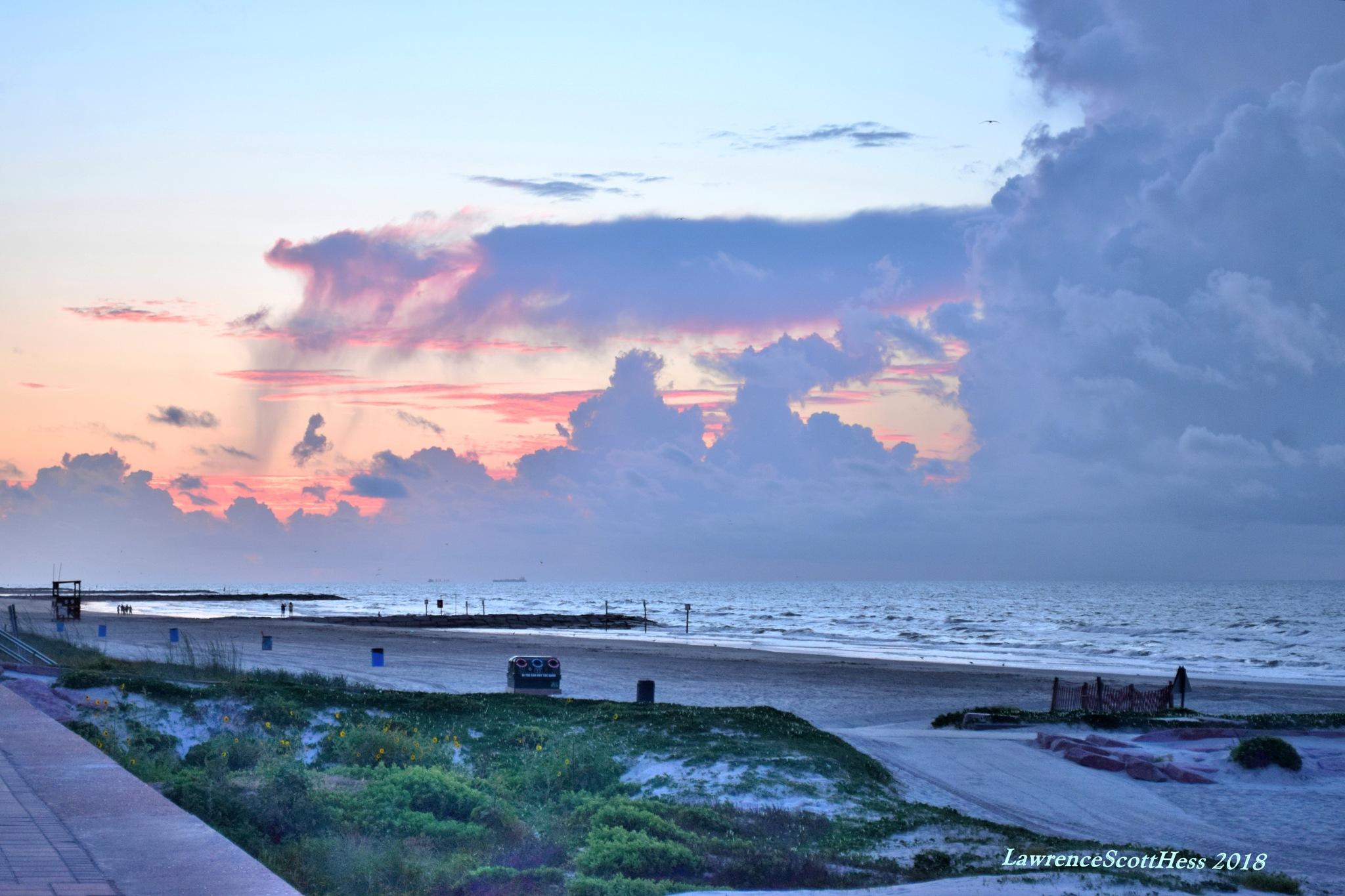 Galvston 661~Beach Dawn by Lawrence Scott Hess
