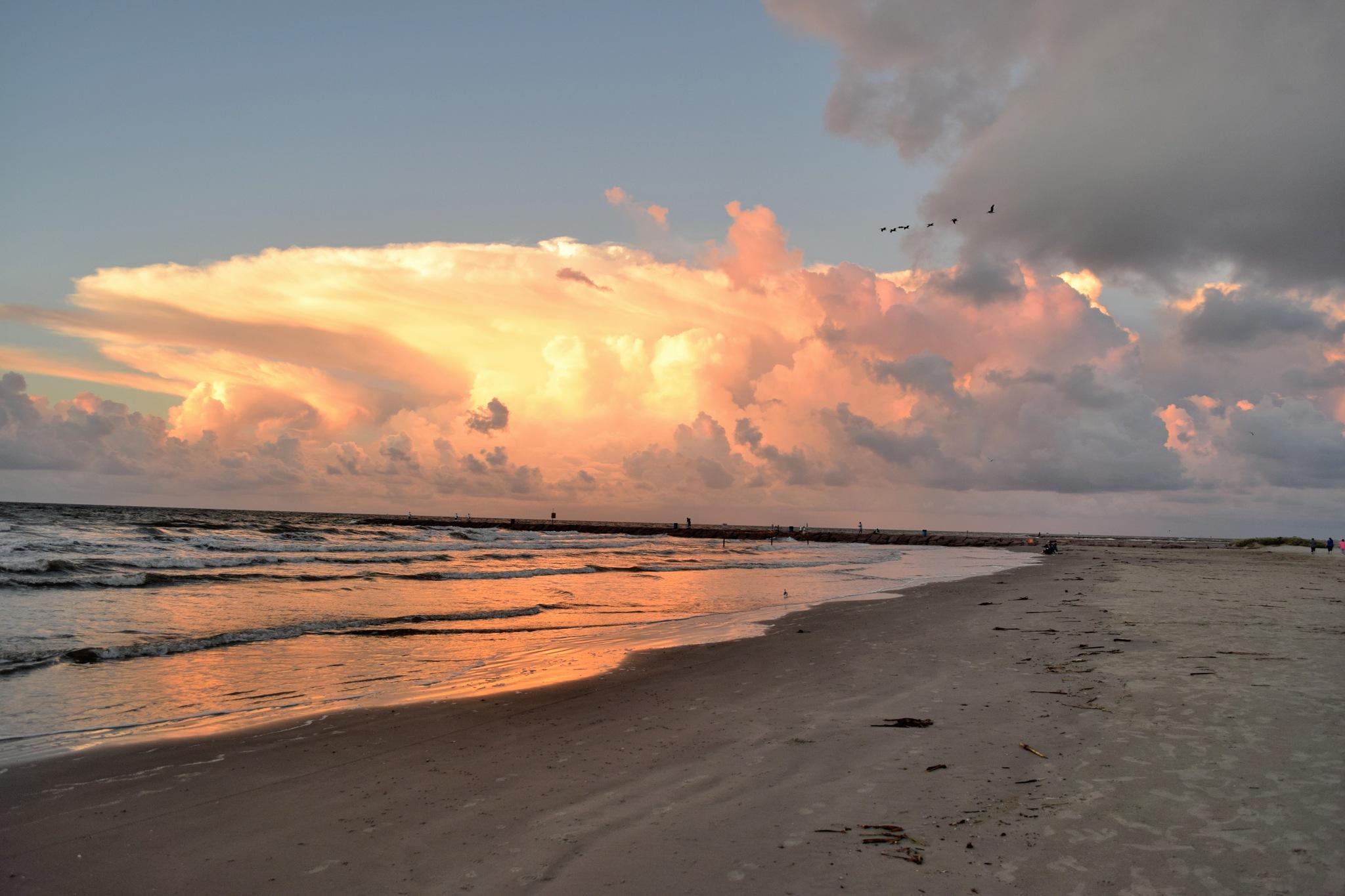 Cloud Art 30~Galveston, Texas by Lawrence Scott Hess