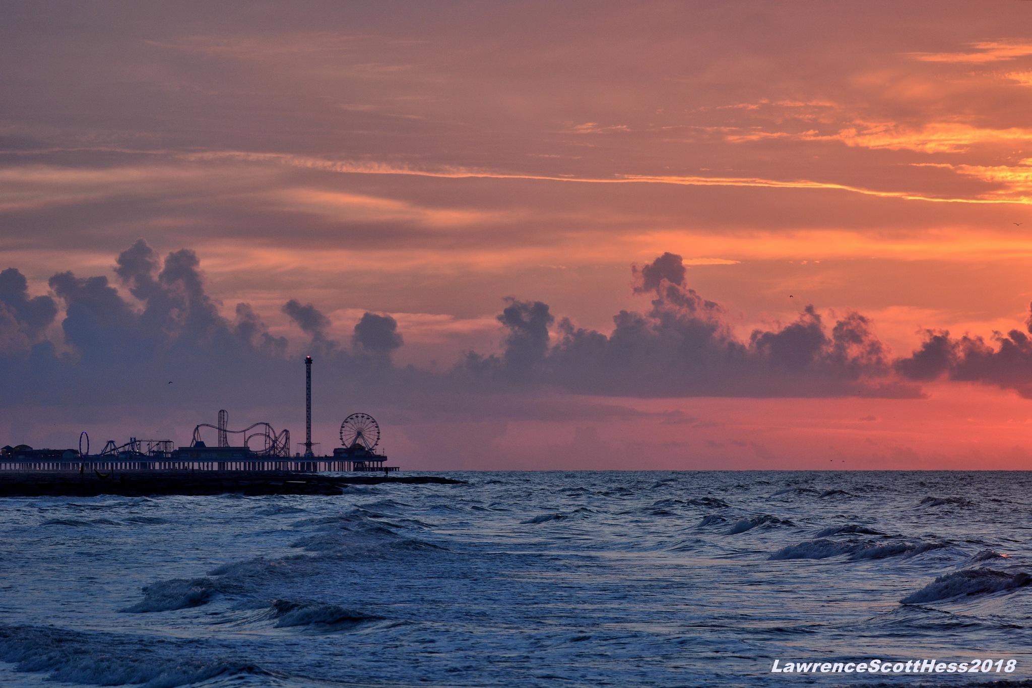 Galveston 166~The Orange Sky by Lawrence Scott Hess