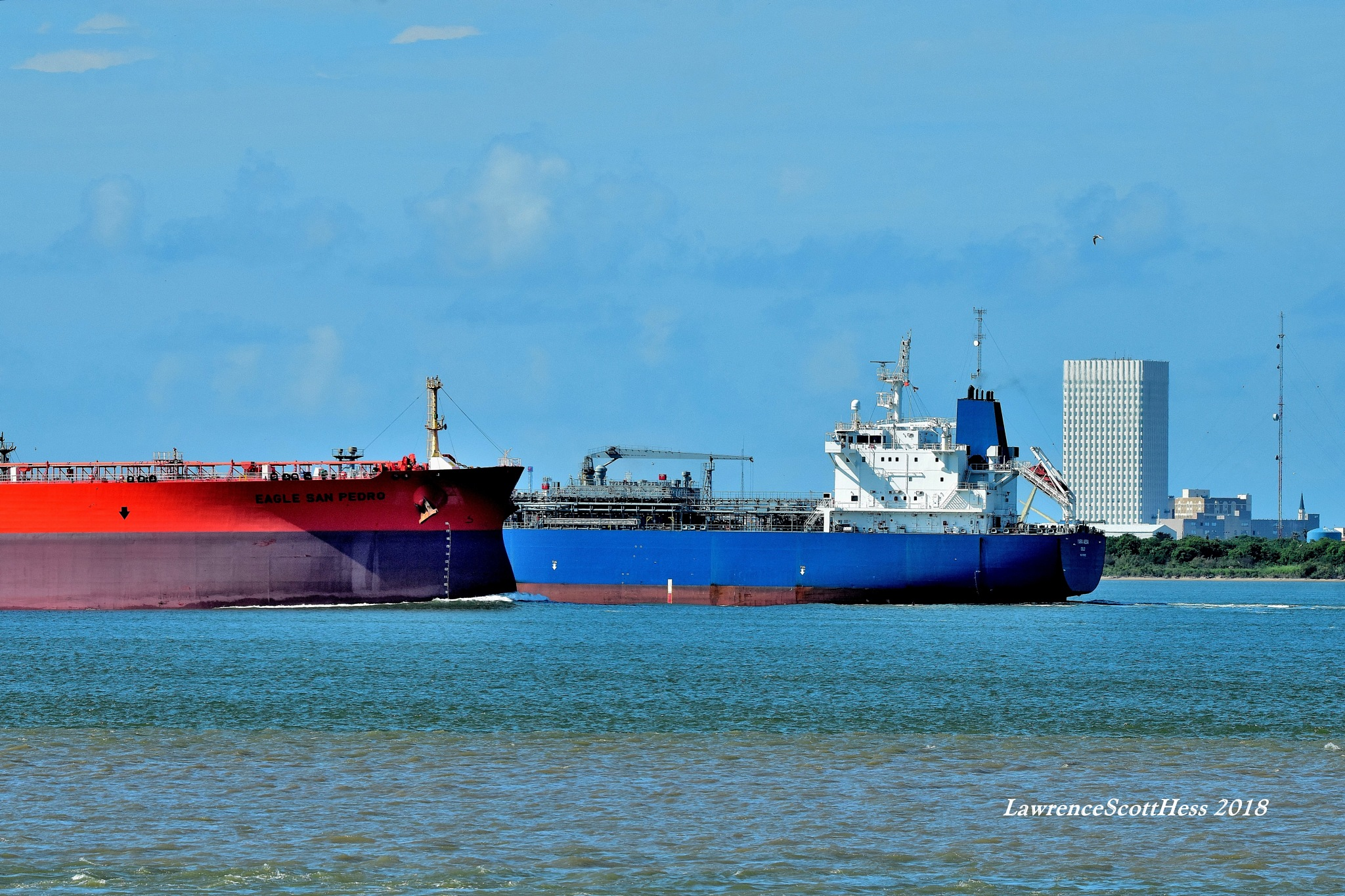 Galveston 606~Passing Ships by Lawrence Scott Hess