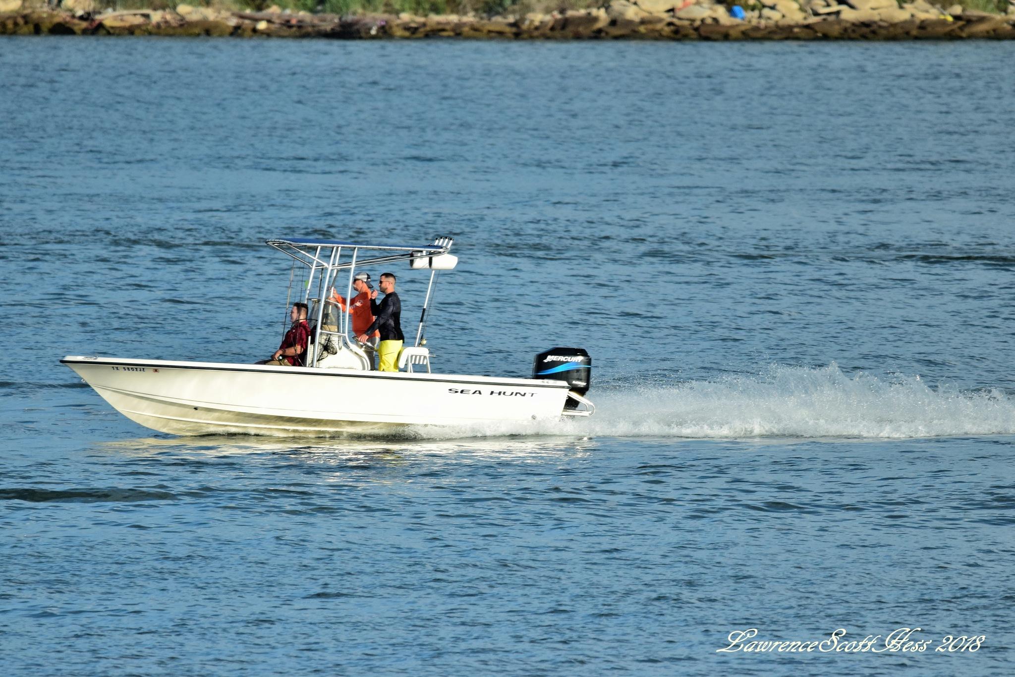 Galveston 1180~Boat Ride by Lawrence Scott Hess