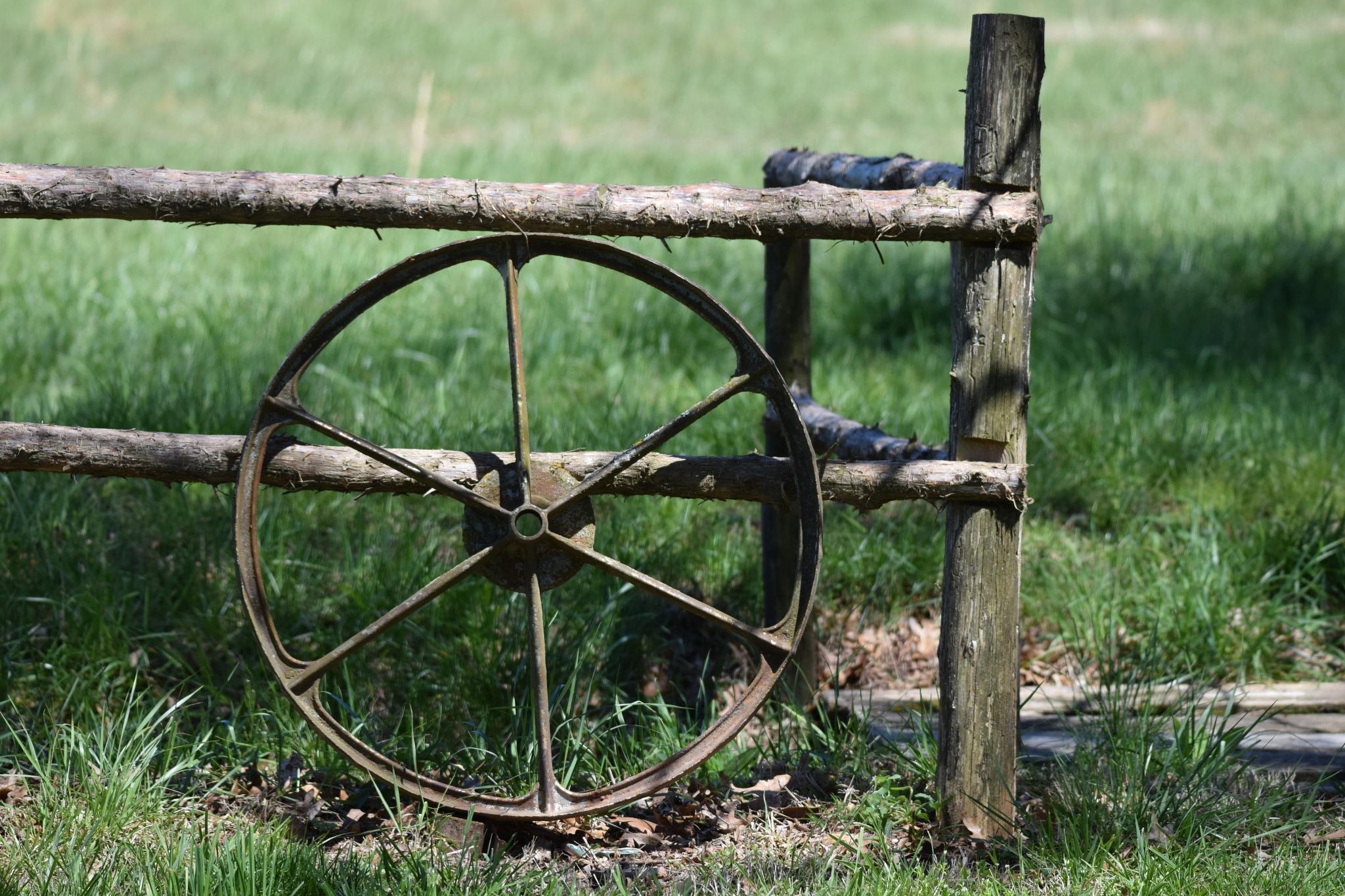 Scotty's Art 114~The Old Wagon Wheel by Lawrence Scott Hess