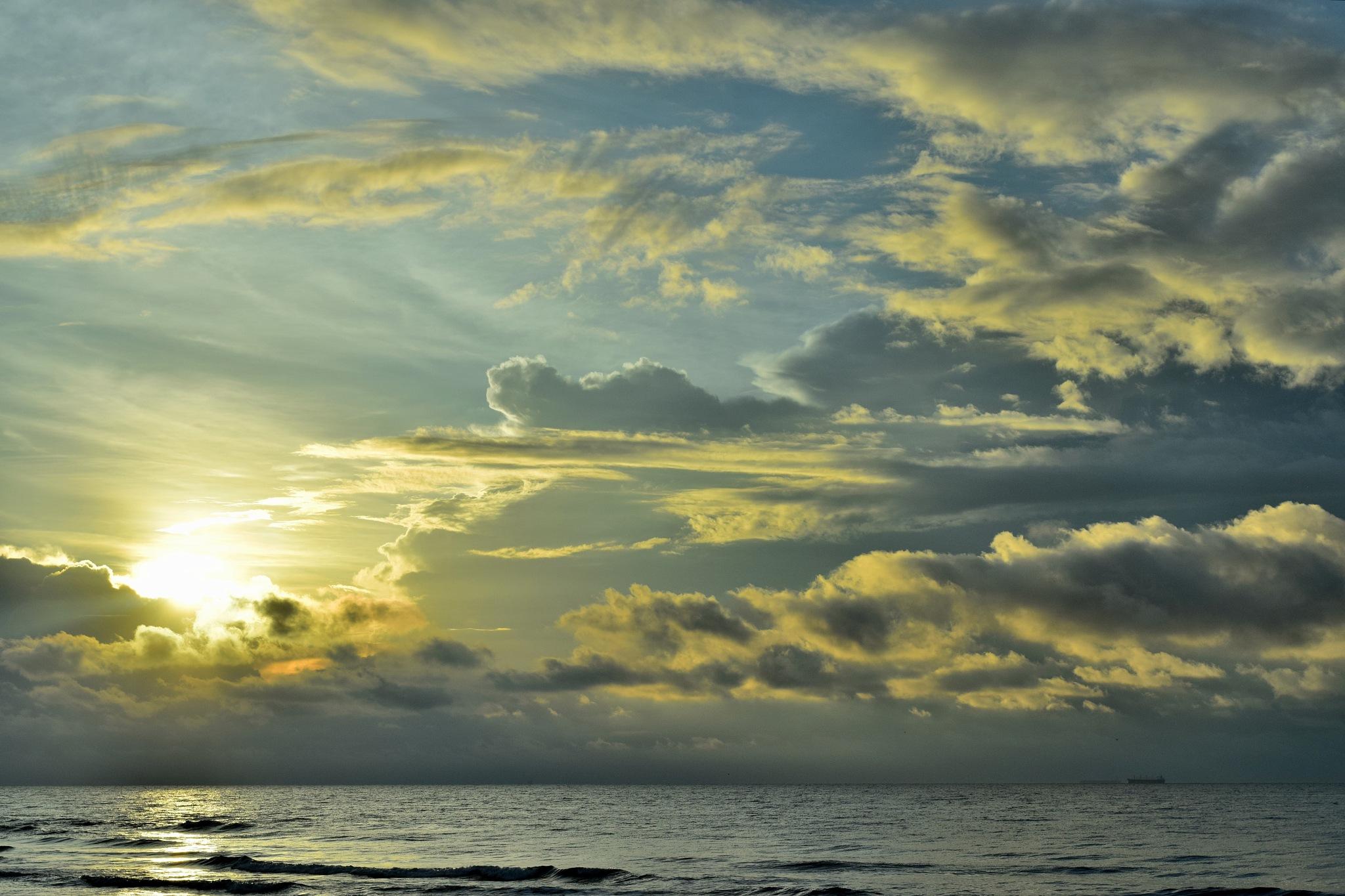 Galveston 200~ Sunshine Sunrise 2 by Lawrence Scott Hess