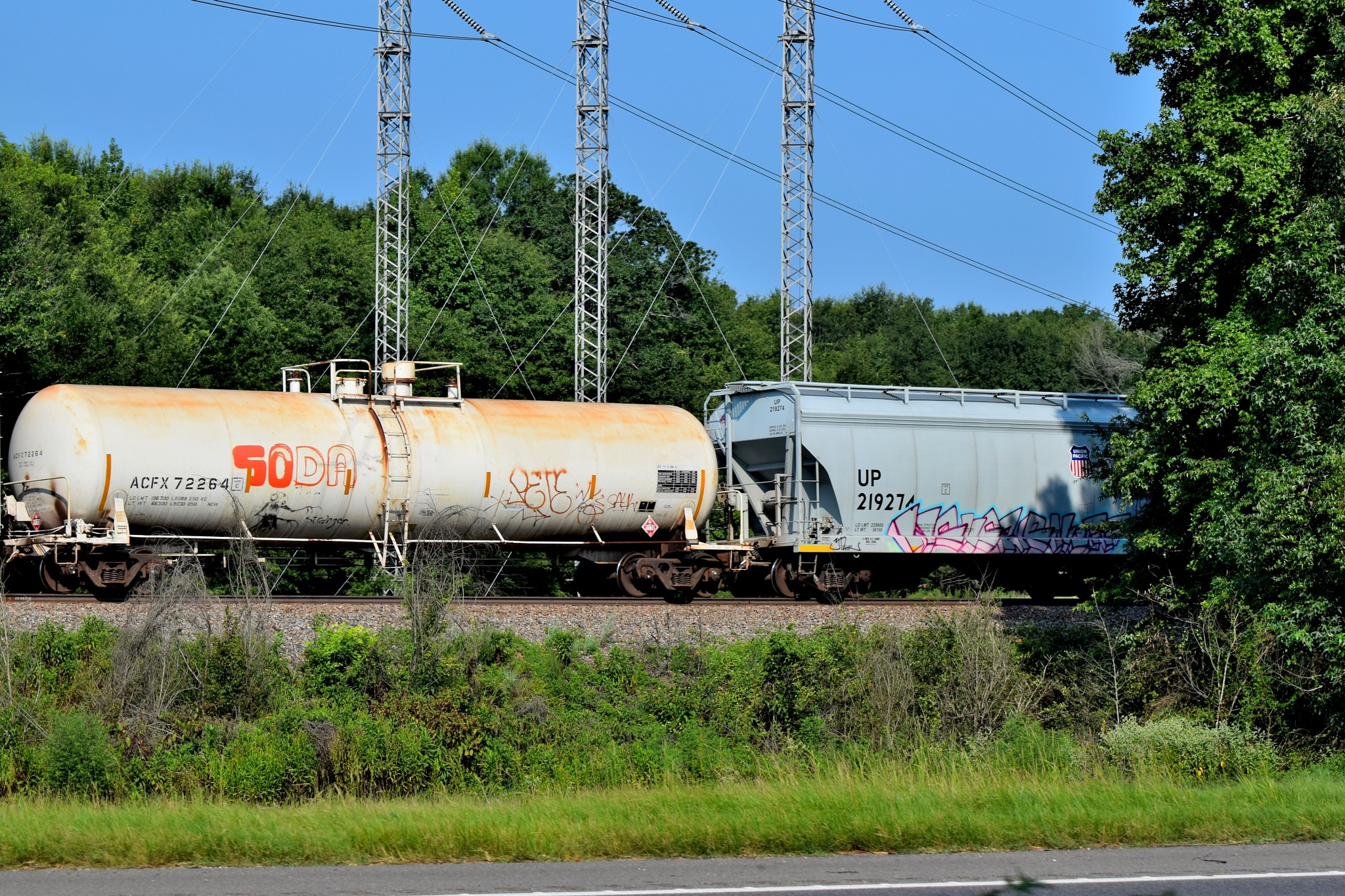 Todays Art 4994~Train Graffiti by Lawrence Scott Hess