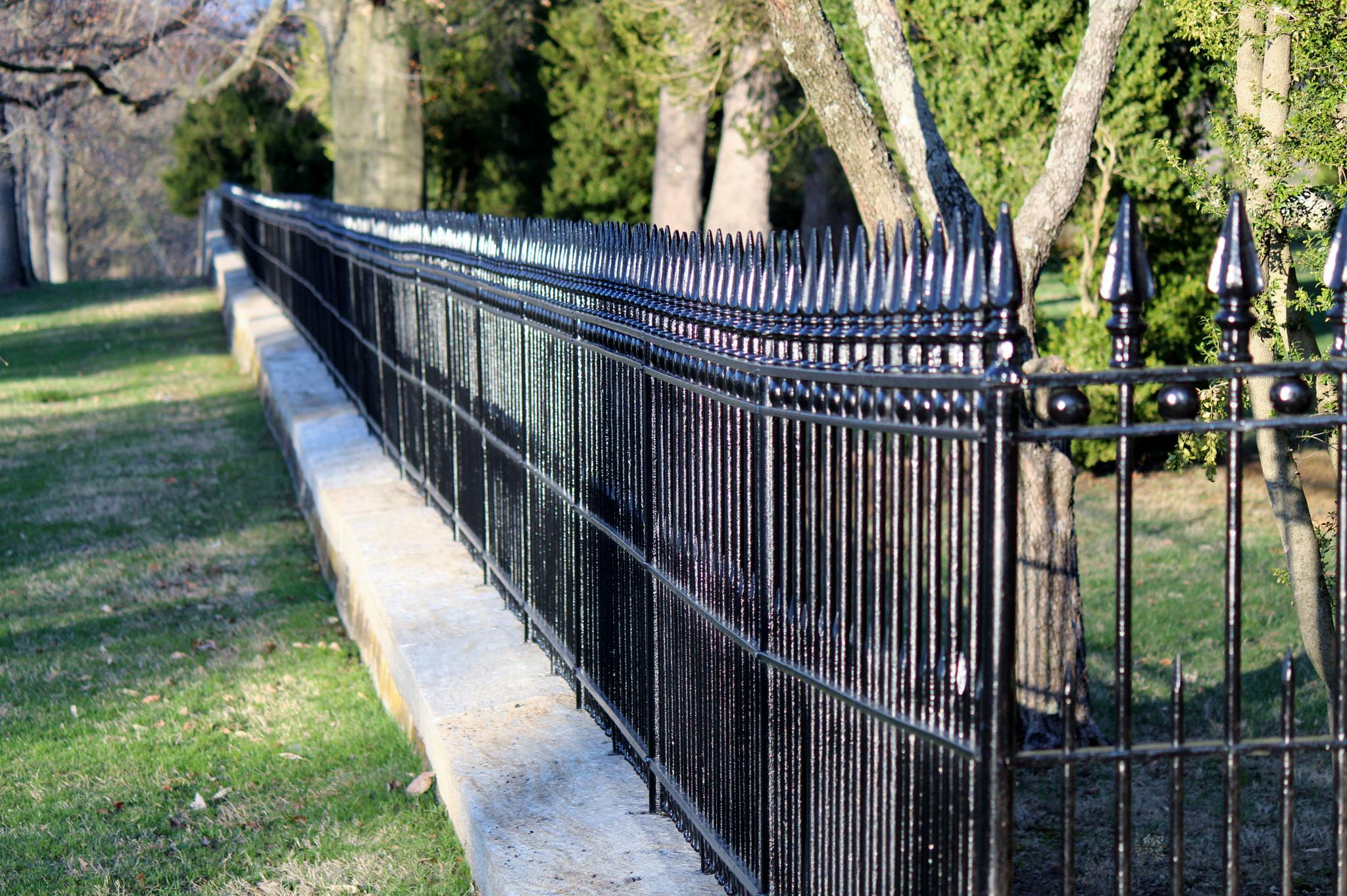 Cemetery Fence at Antietam National Cemetery by Clark L. Roberts
