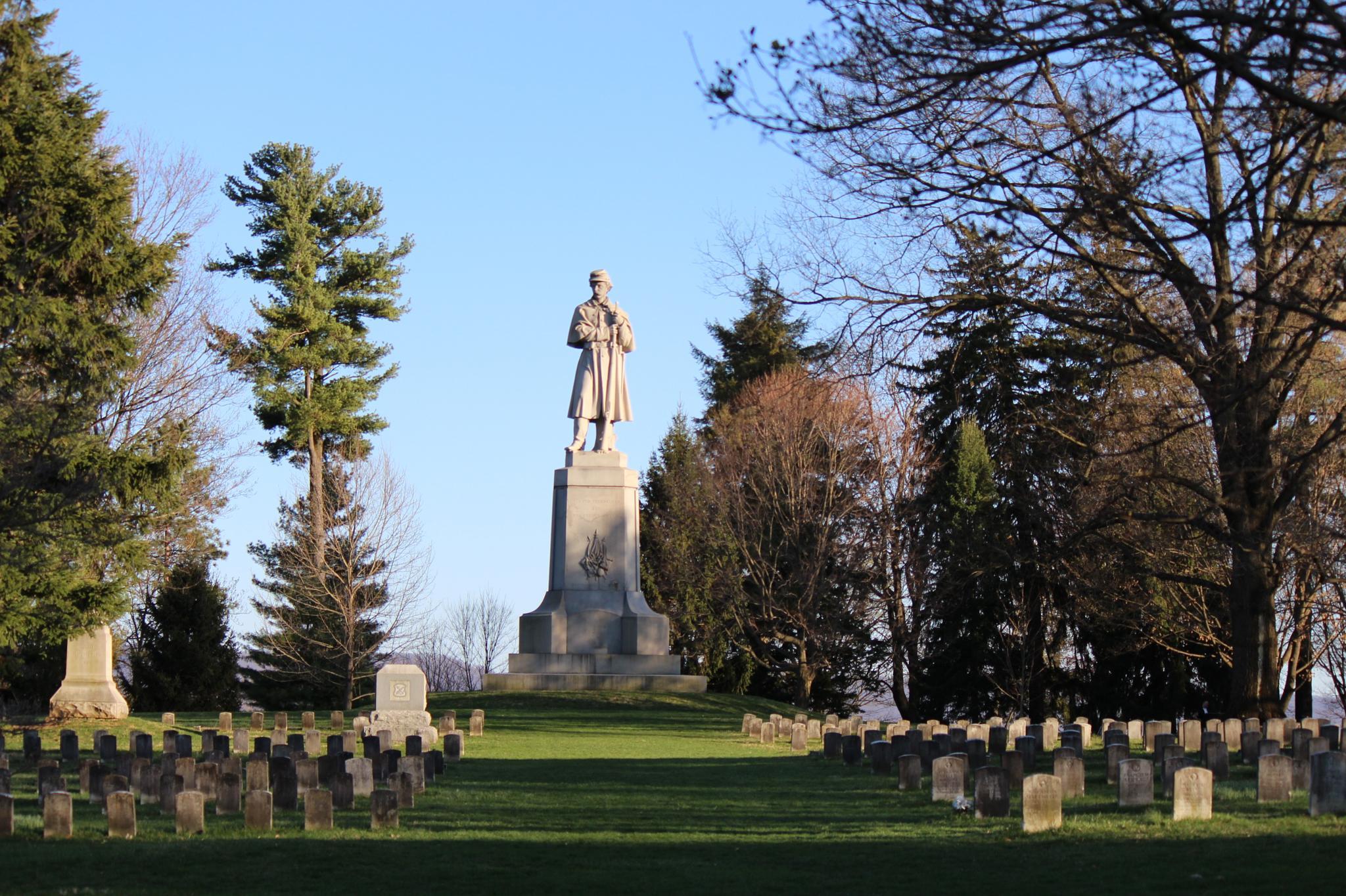 Antietam National Cemetery Standing Guard by Clark L. Roberts