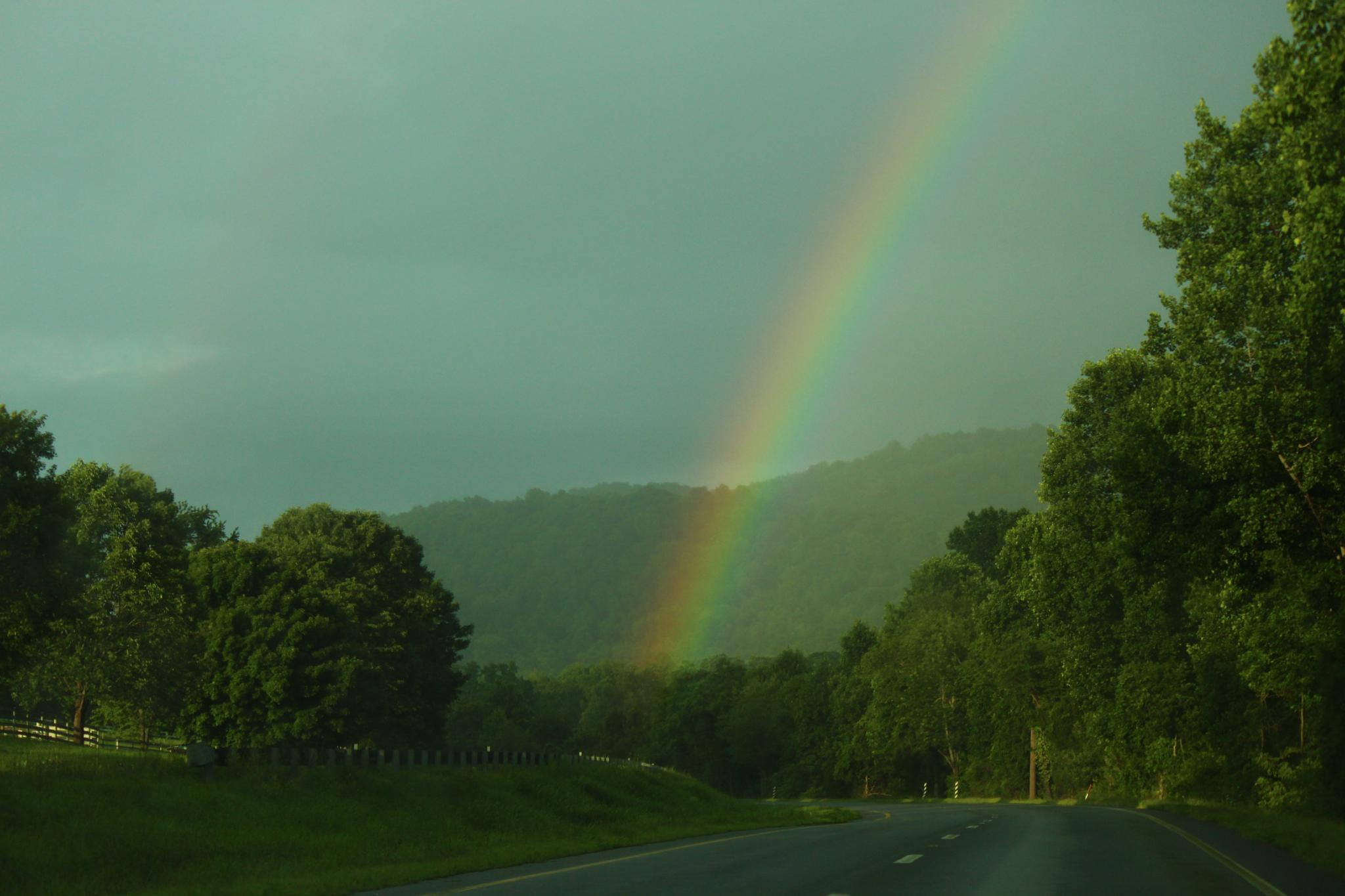 A rainbow to end the day by Clark L. Roberts