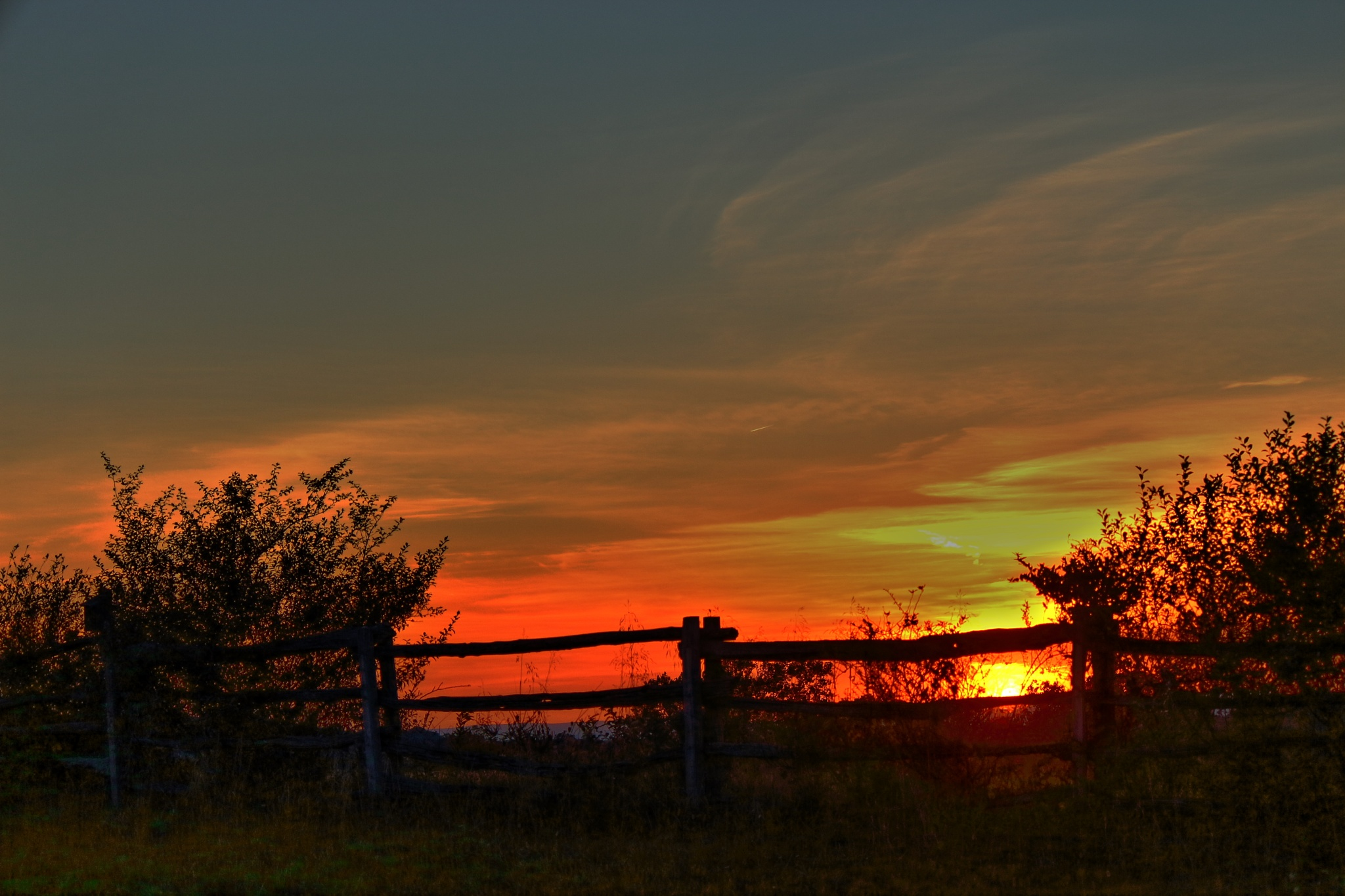 Sunset in the country by Clark L. Roberts