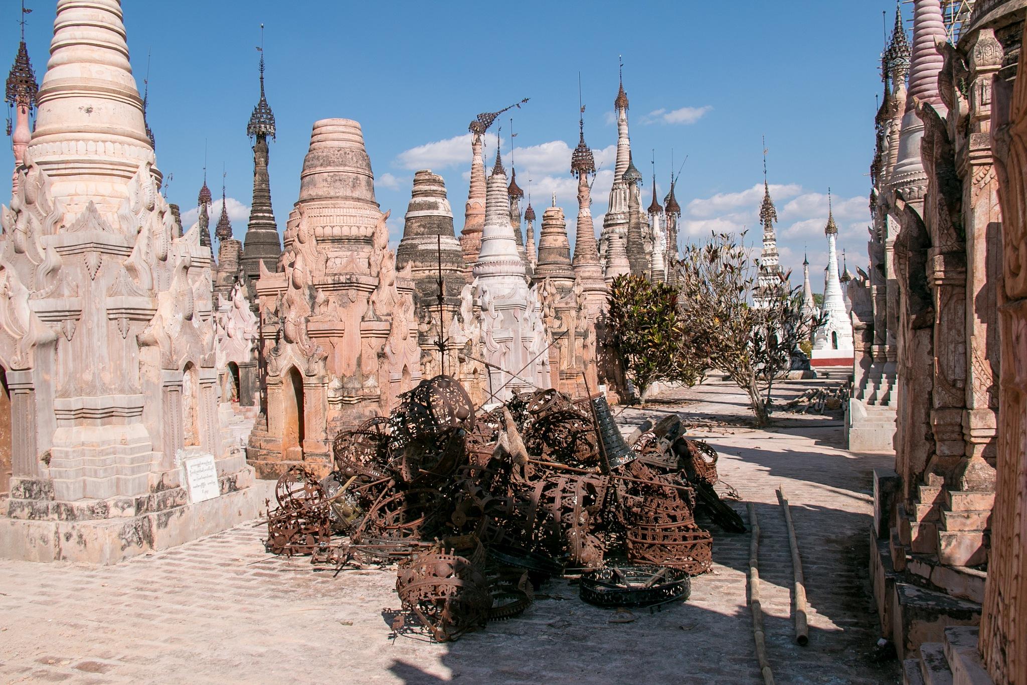 Kakku Stupas & rusty tops by Lisbet