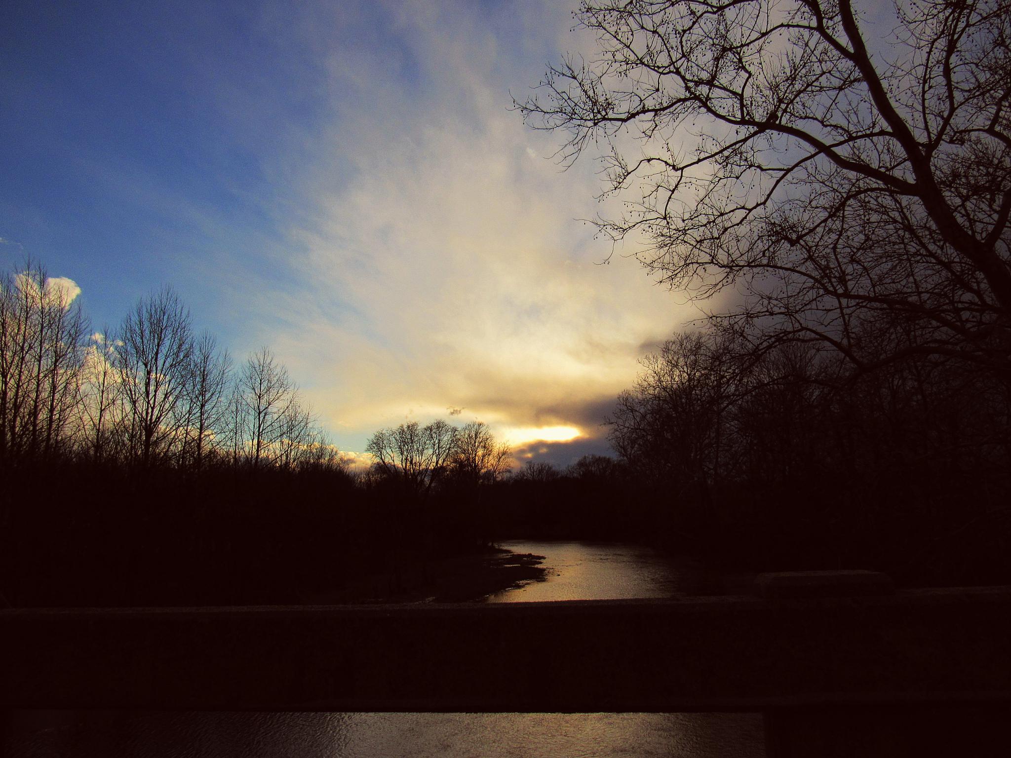 BACK ROADS SUNSET by Catherine Wegener