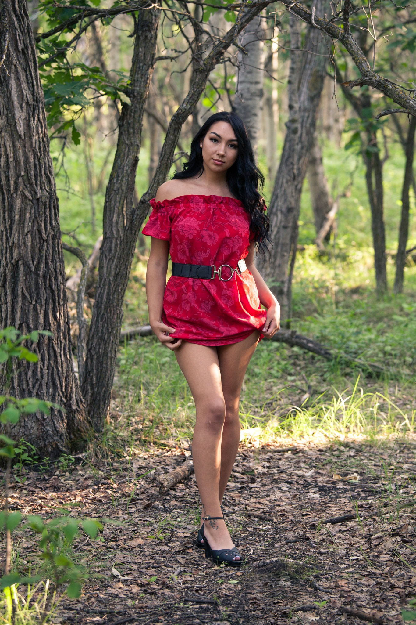 lady in red by Mannu Duggal