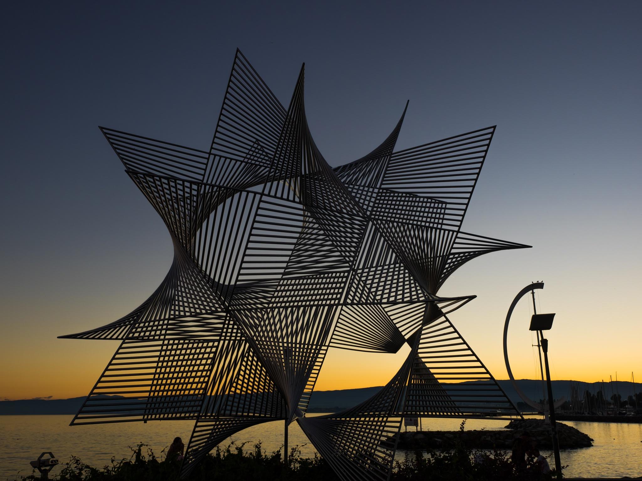Art at lake geneve by pixer