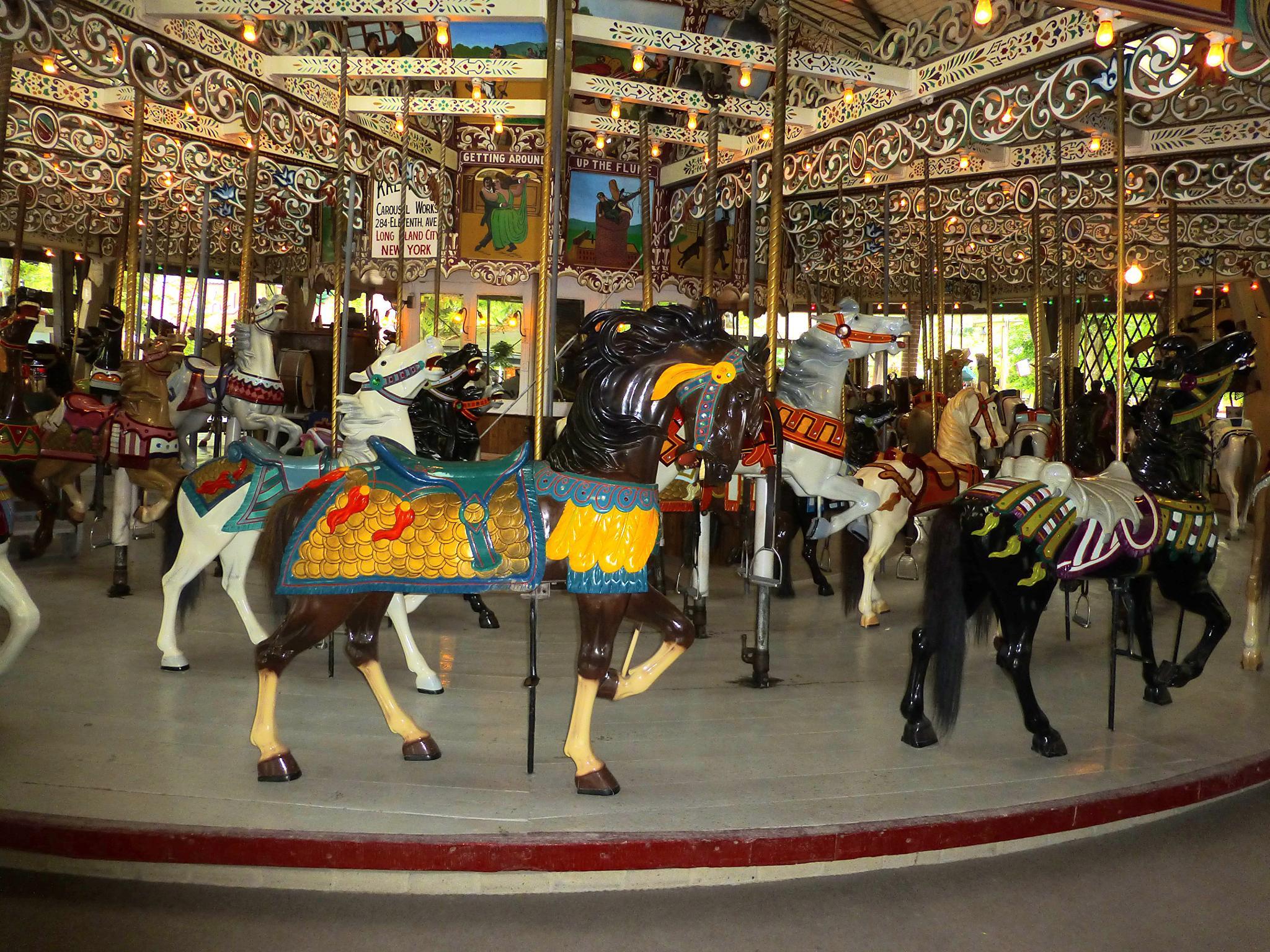 Carousel Horses II by Terri Scache Harris