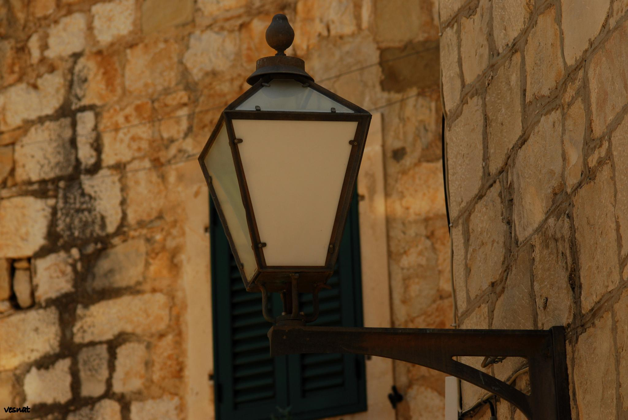 lamp in the one of the streets in Makarska by vesna.tafra