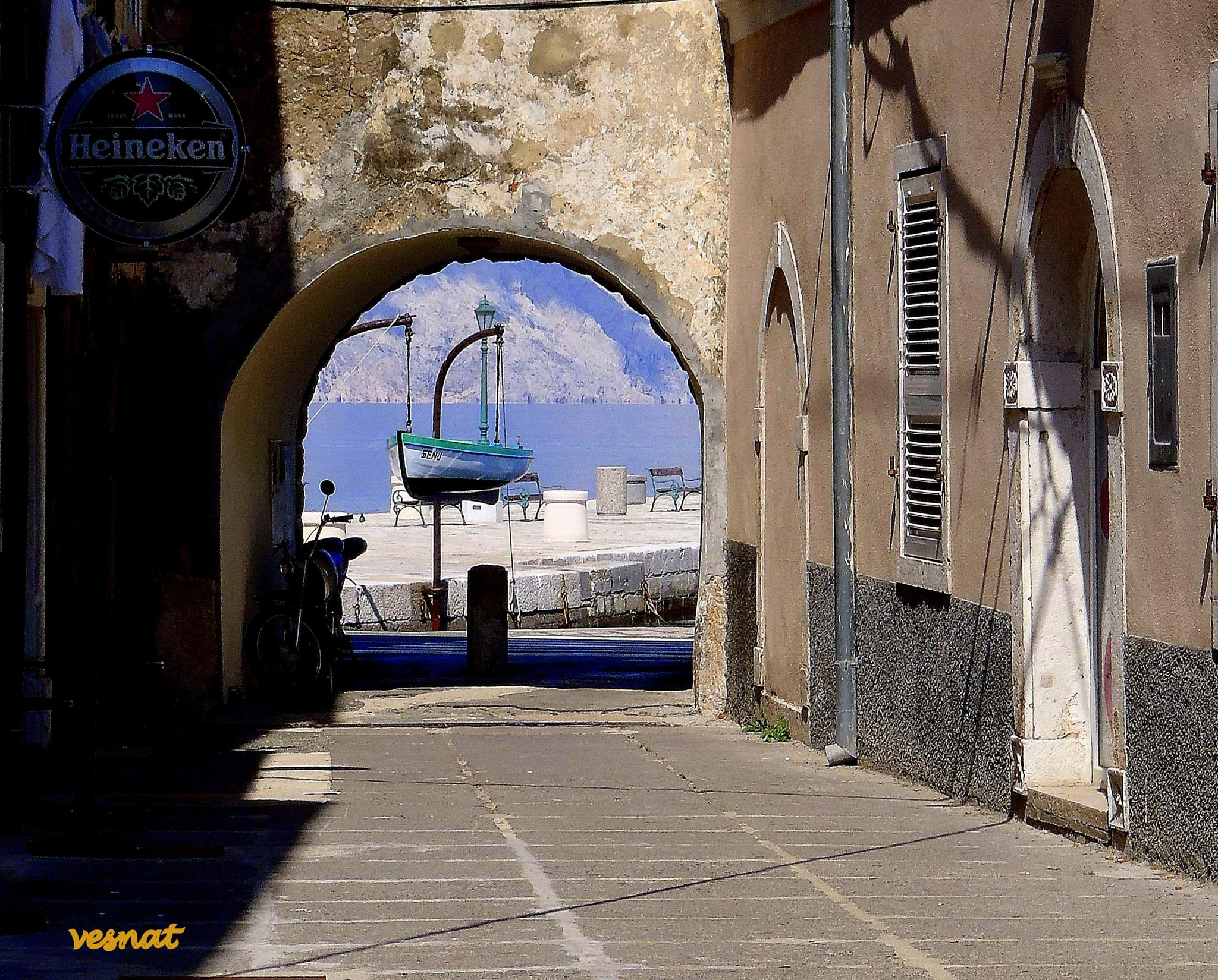 detail from the Senj little town on the Adriatic coast by vesna.tafra