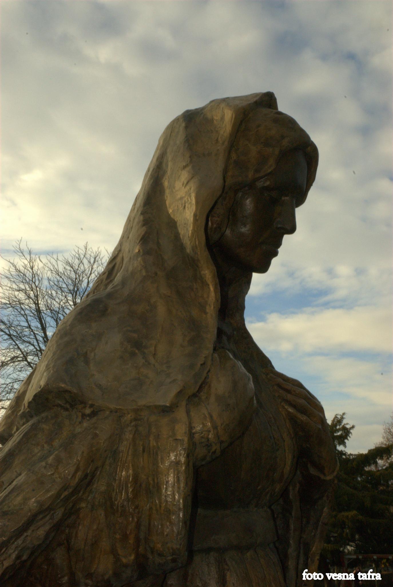"Madonna - detail of ""Calvary"" by Mladen Mikulin, Croatian academic sculptor by vesna.tafra"
