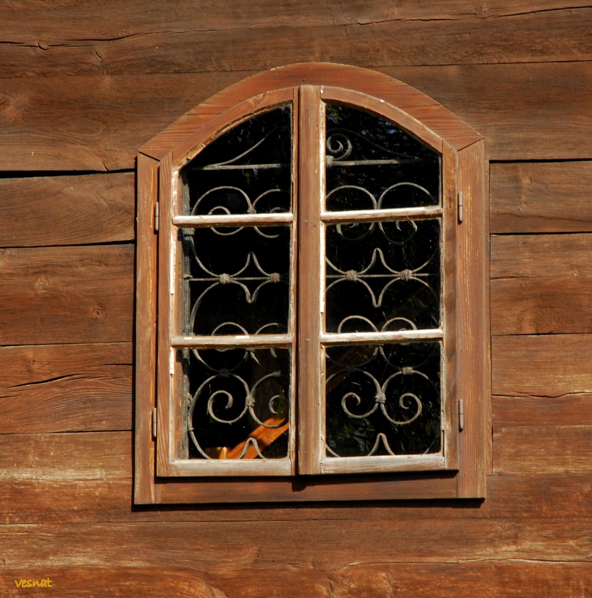 window - detail from the St. Barbara's Chapel in Velika Mlaka, Croatia by vesna.tafra