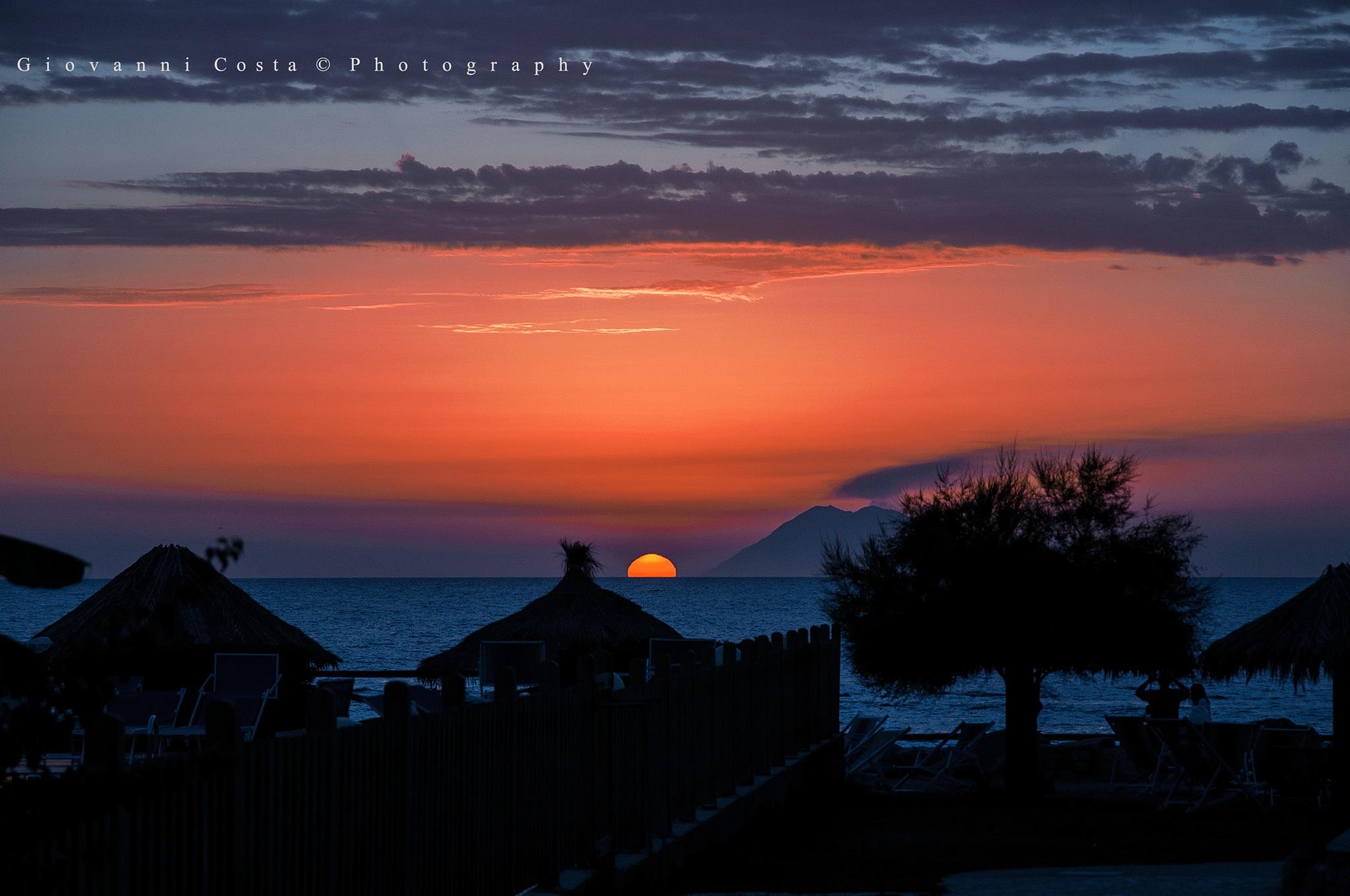 Sunset on Stromboli by GiovanniCostaPhotographer
