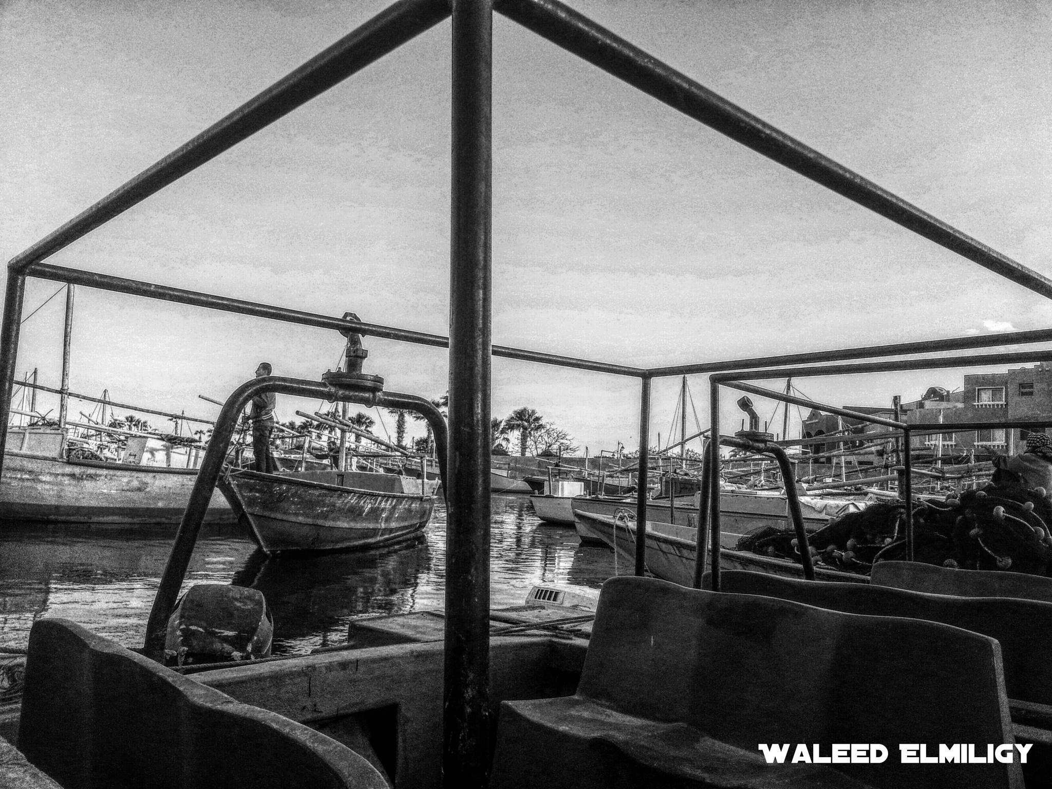 the boat  by Waleed Elmiligy