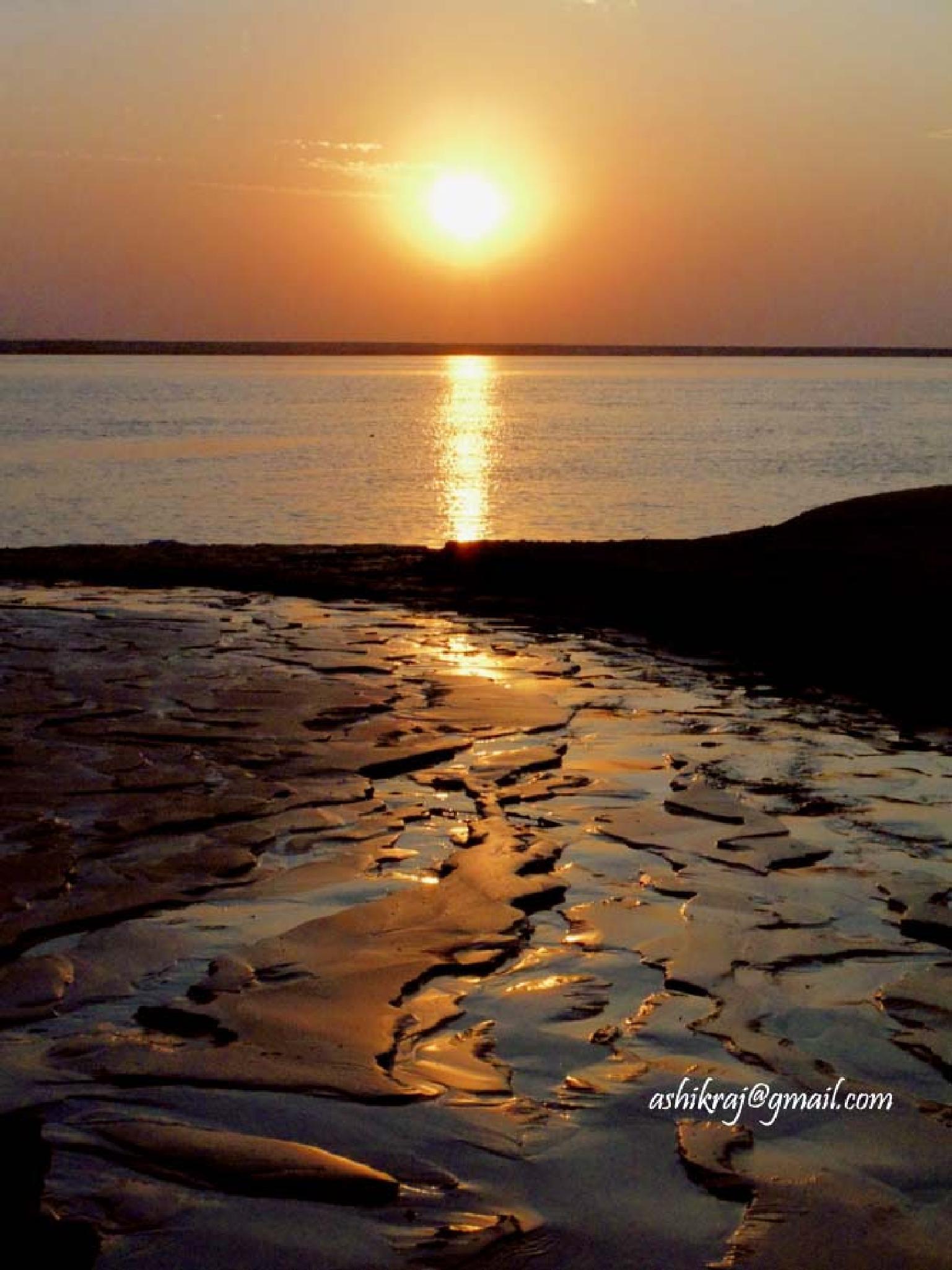 Reflection on Sand by Ashik Iqbal