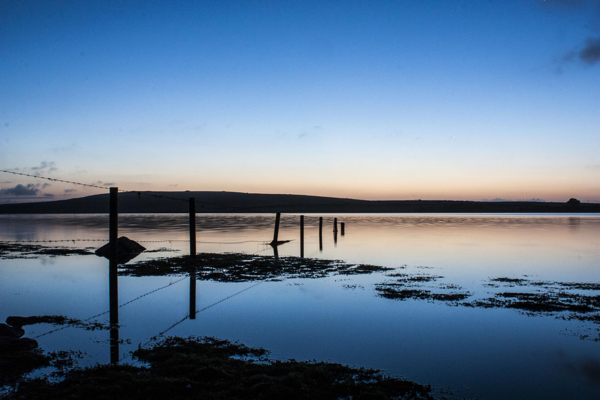 Cilliford lake at dawn by Graham Brett