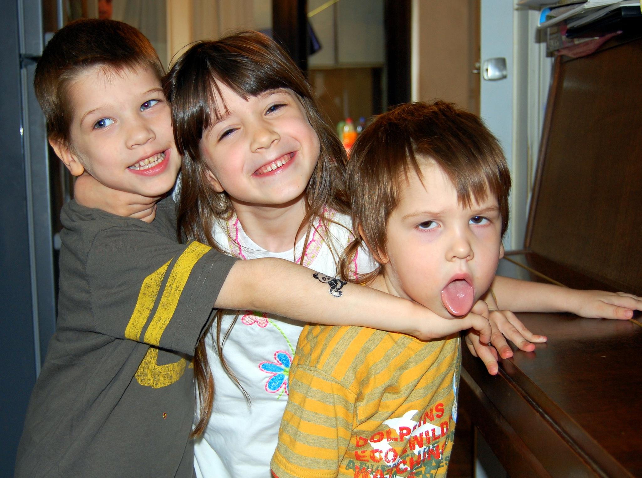 Photo in People #siblings #love #sister #brothers #children #girl #boys