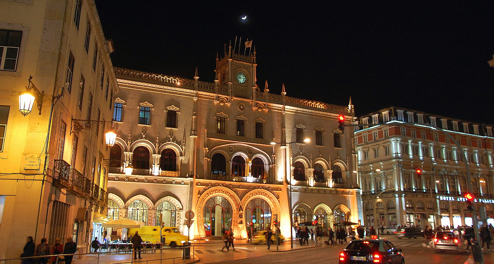 Rossio In Lisbon At Night by goga.dt