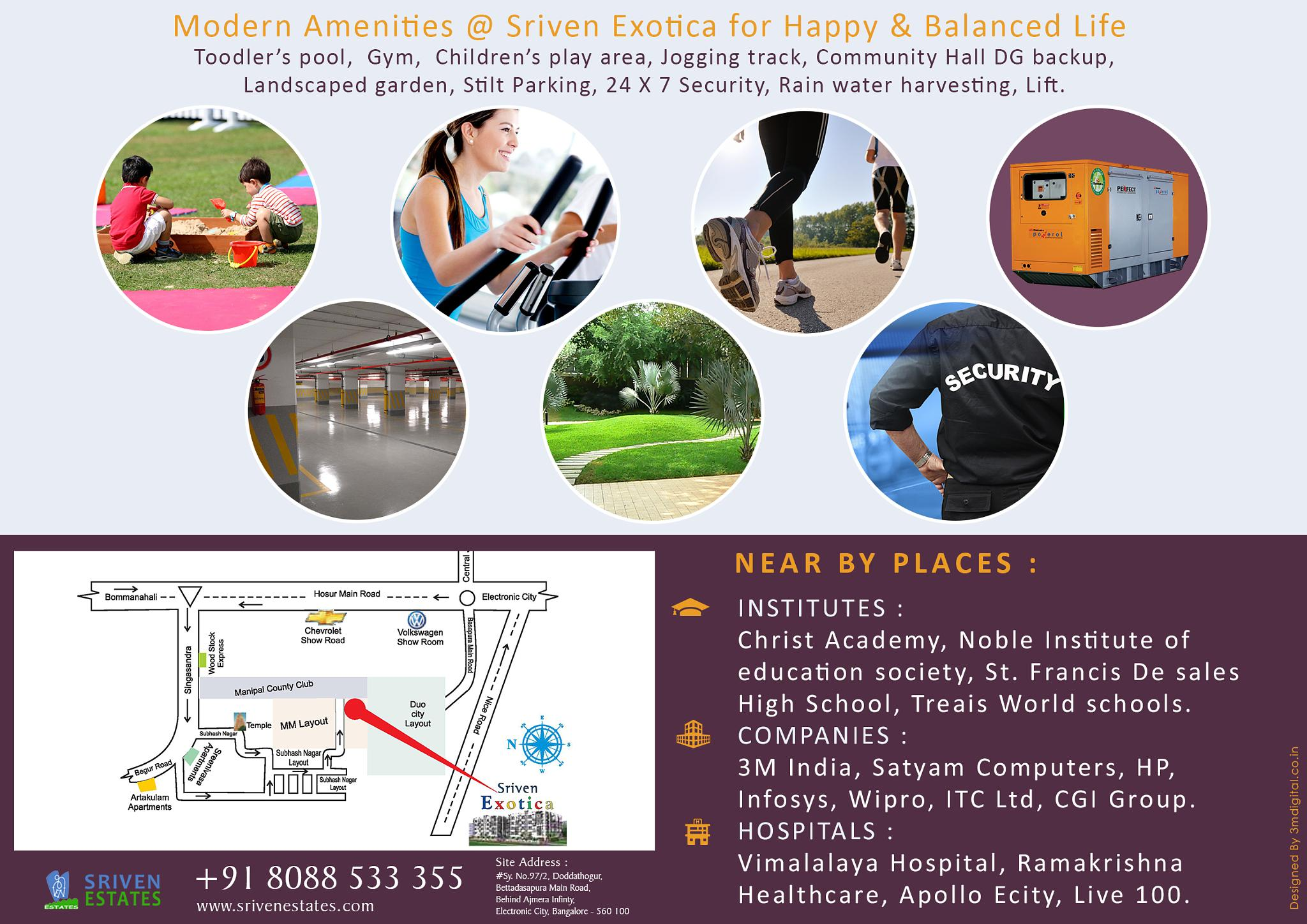Best Apartments With best Amenities in Singasandra by Sriven Estates