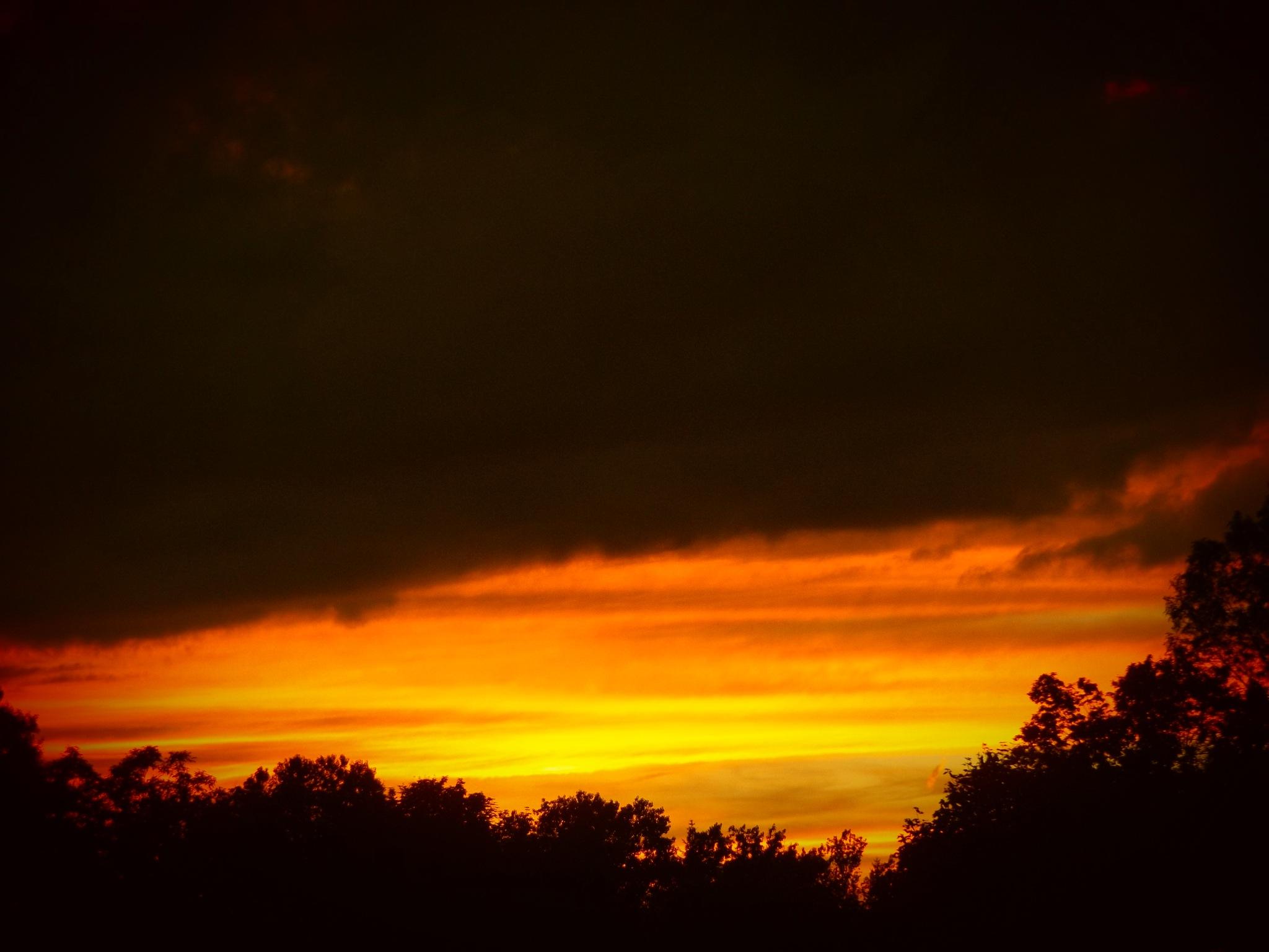 SUNSET IN RIDGEWAY NEW YORK by Dawn Hoffmeister