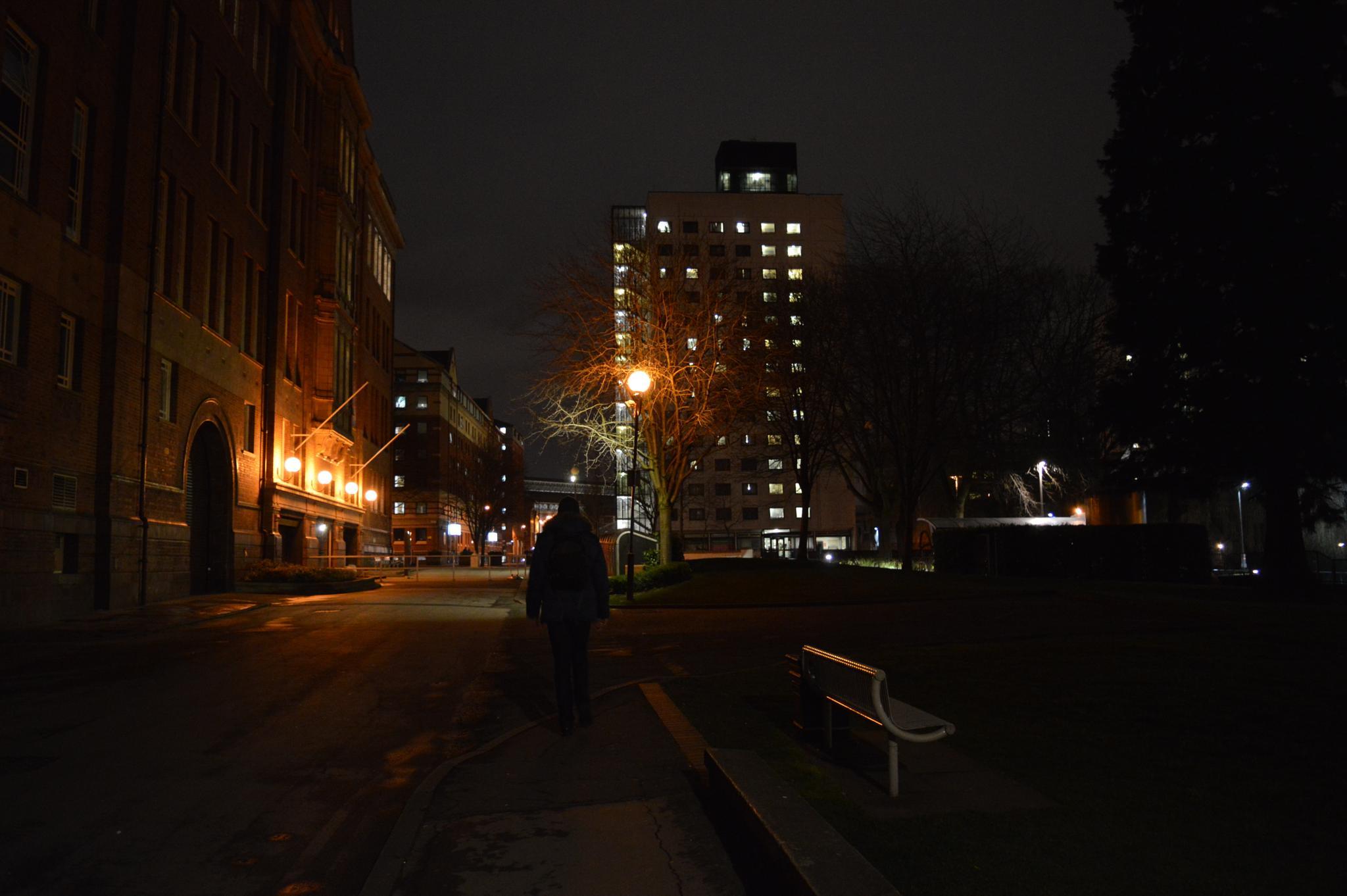 Lone Silhouette in The Dark  by leon.j.fox