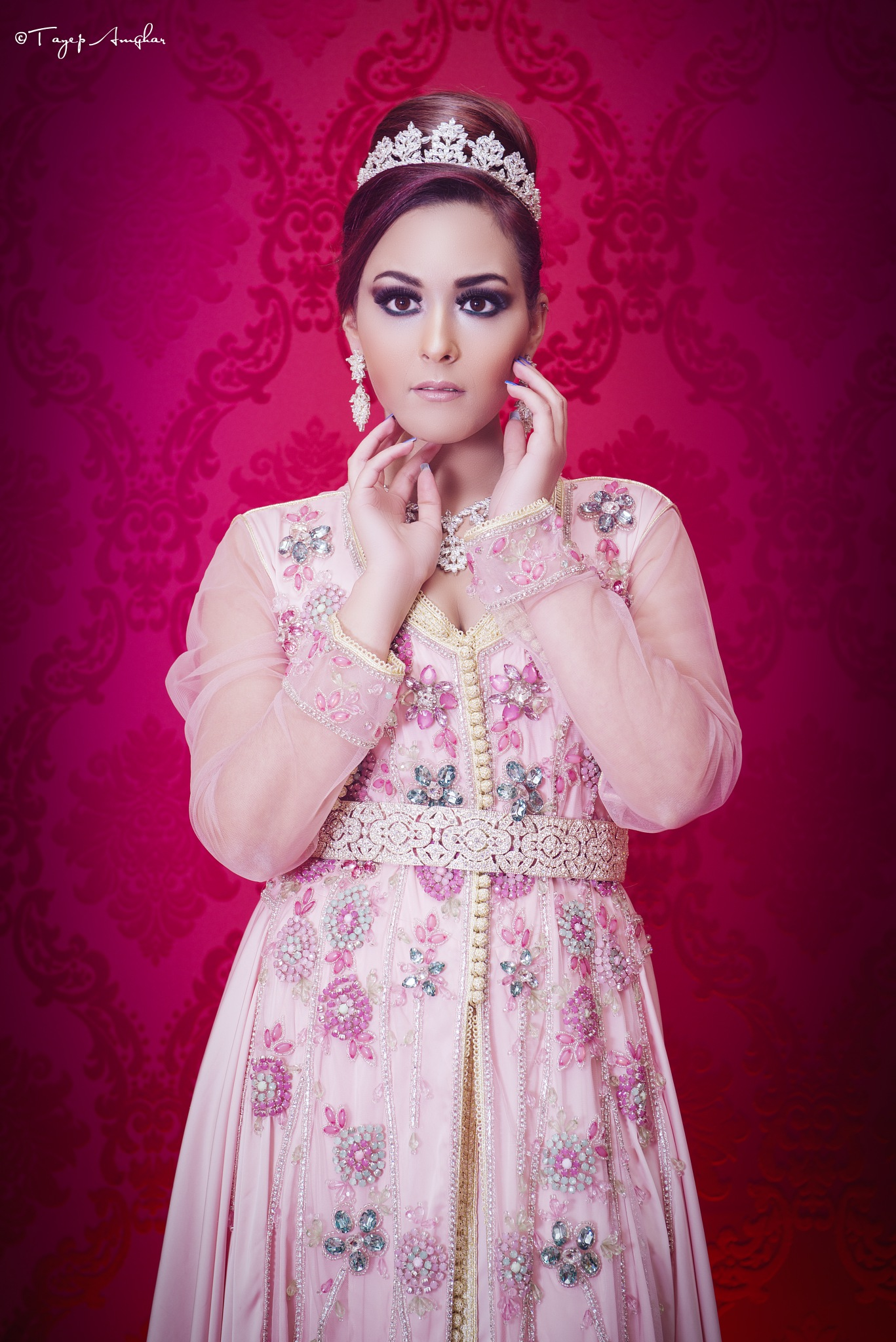 bride with caftan by tayep  amghar