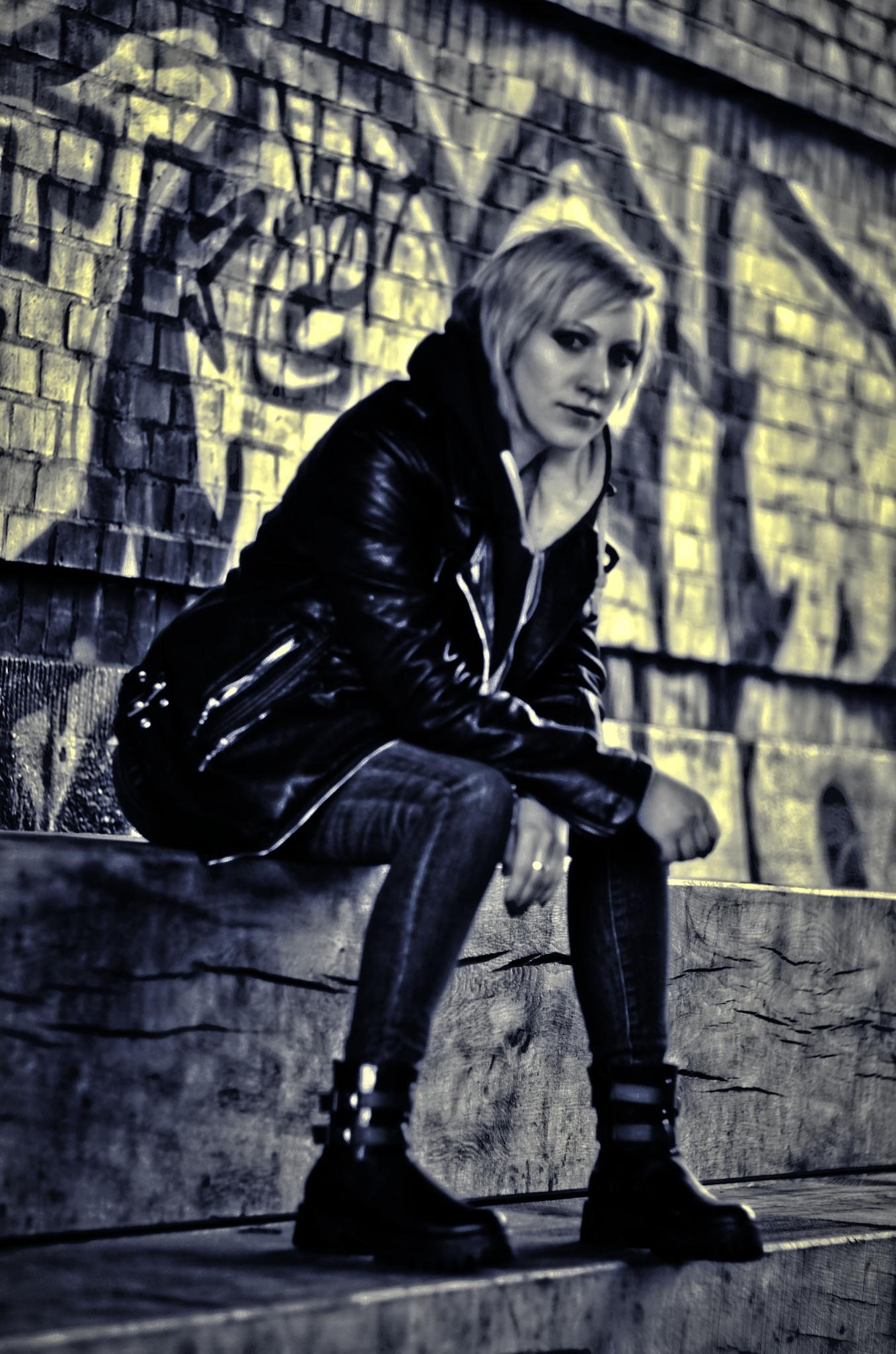 Photo in People #punk+ #sreet #girl #dark