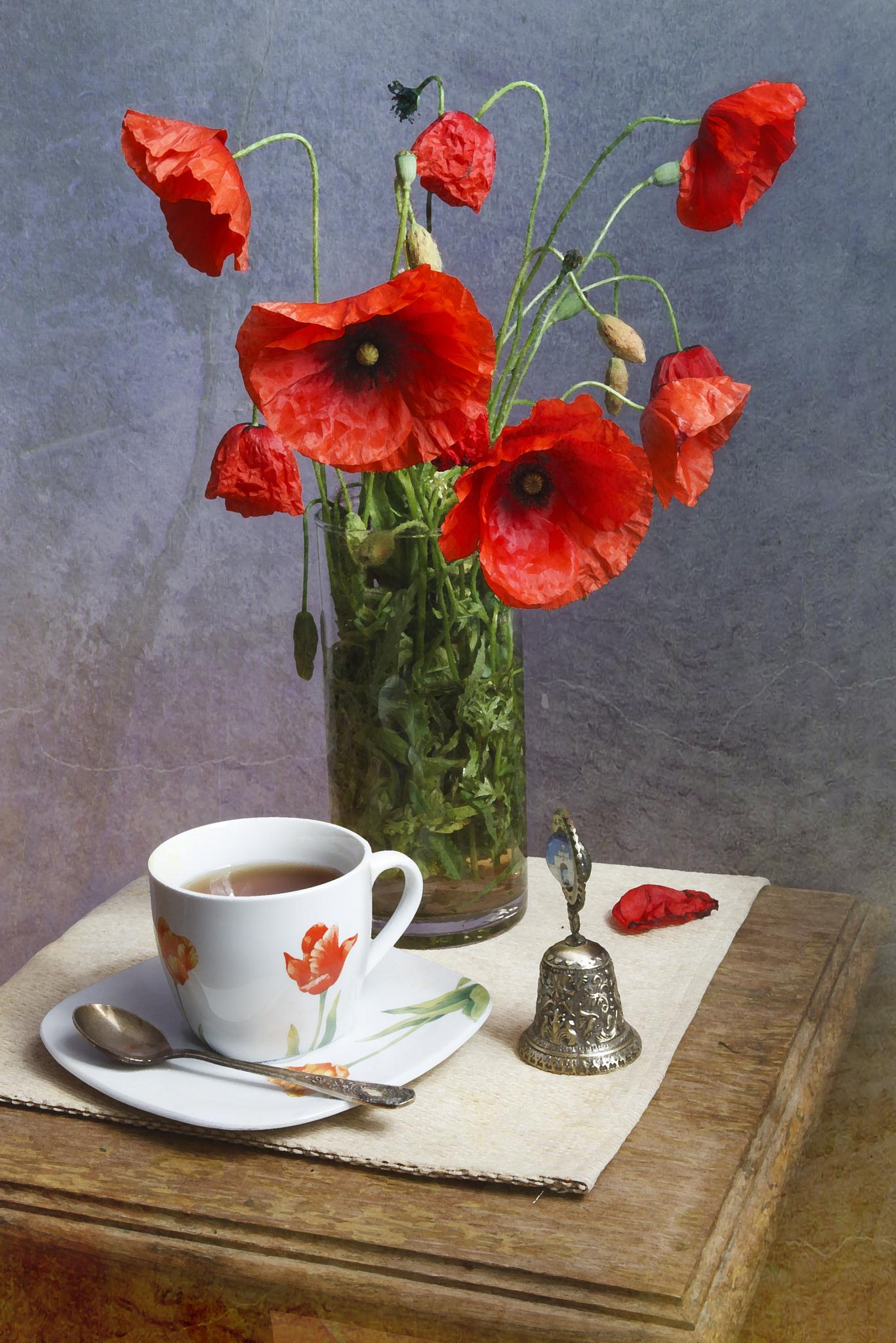 red poppies and tea  by aleksandr.junajev.1