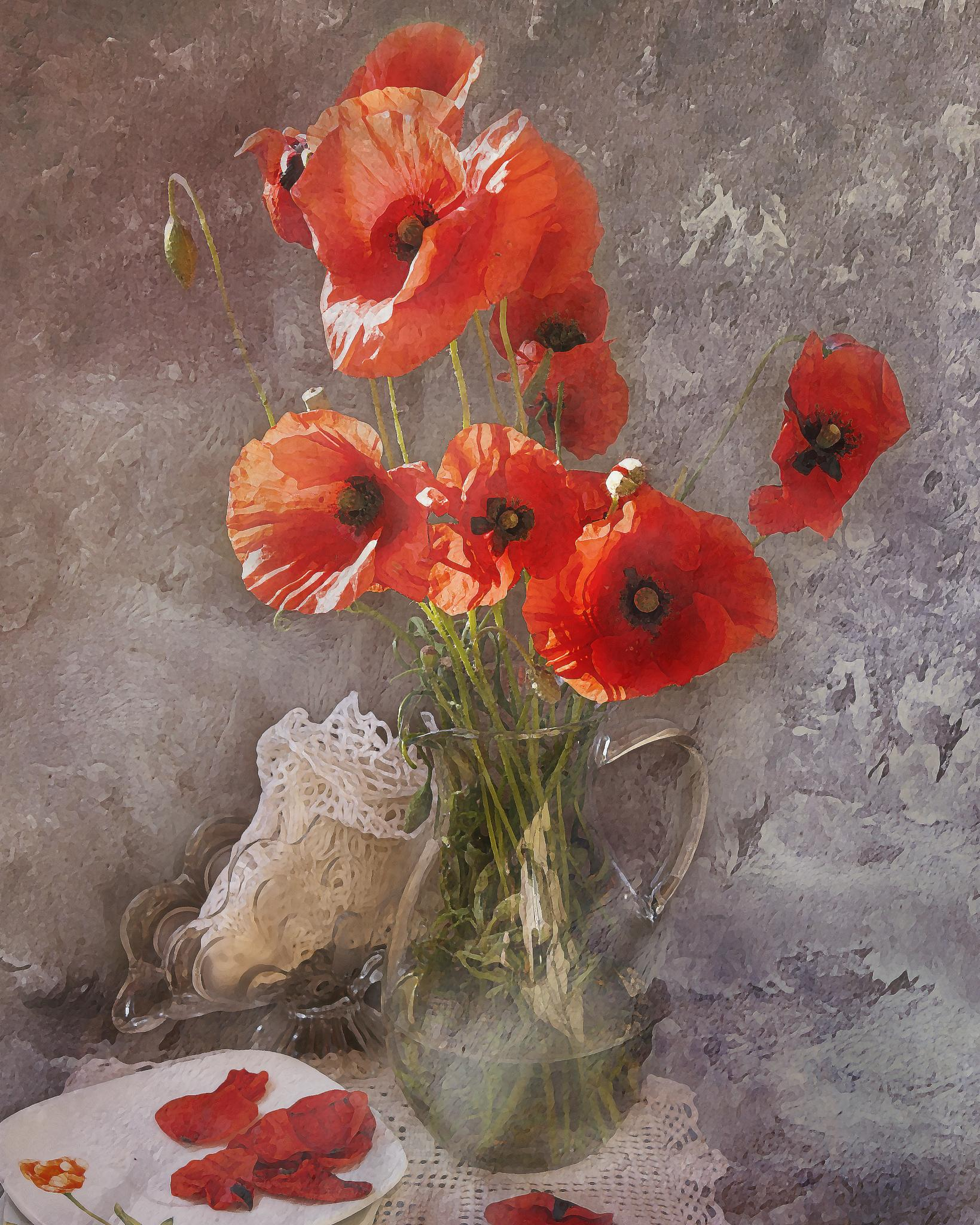 poppies by aleksandr.junajev.1